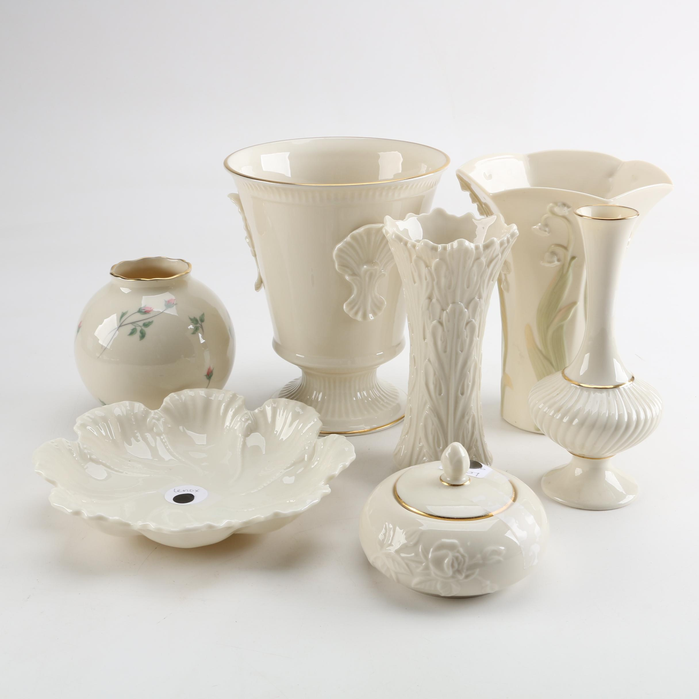 """Lenox Porcelain Vessels Including """"Woodland Collection"""" and """"Rose Manor"""""""