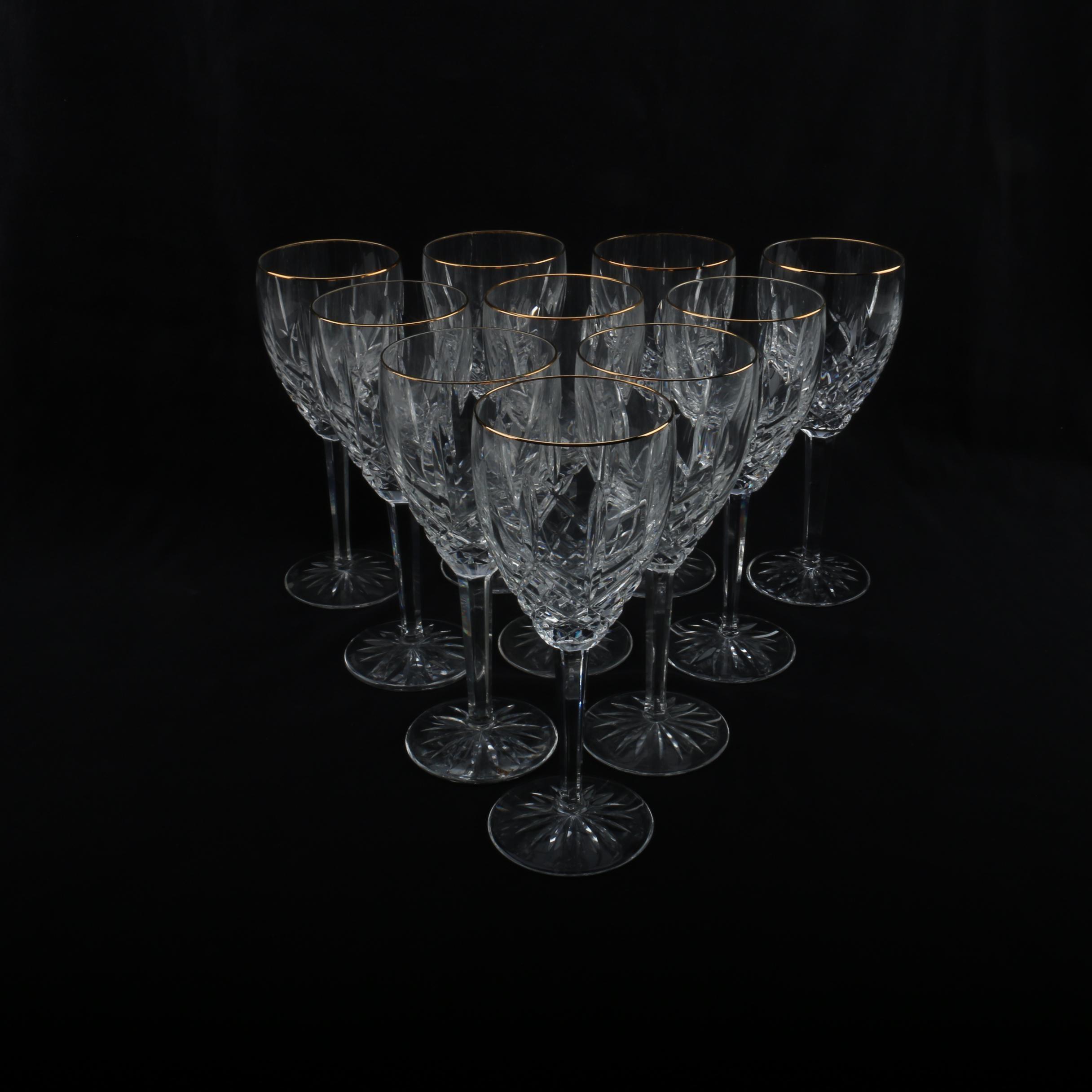 """Waterford Crystal """"Lismore"""" Wine Glasses"""