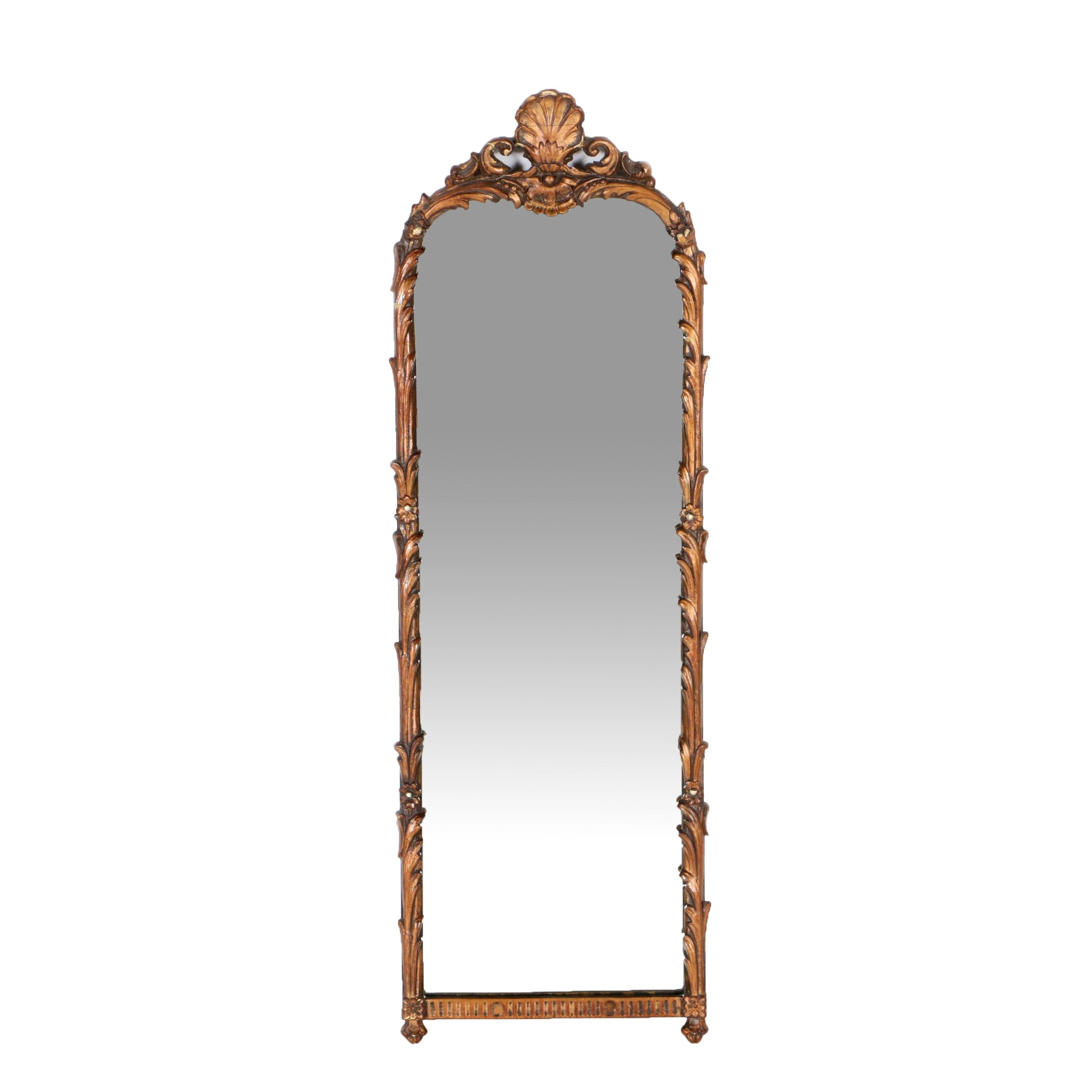 Wood Framed Mirror with Rocaille and Acanthus Detail
