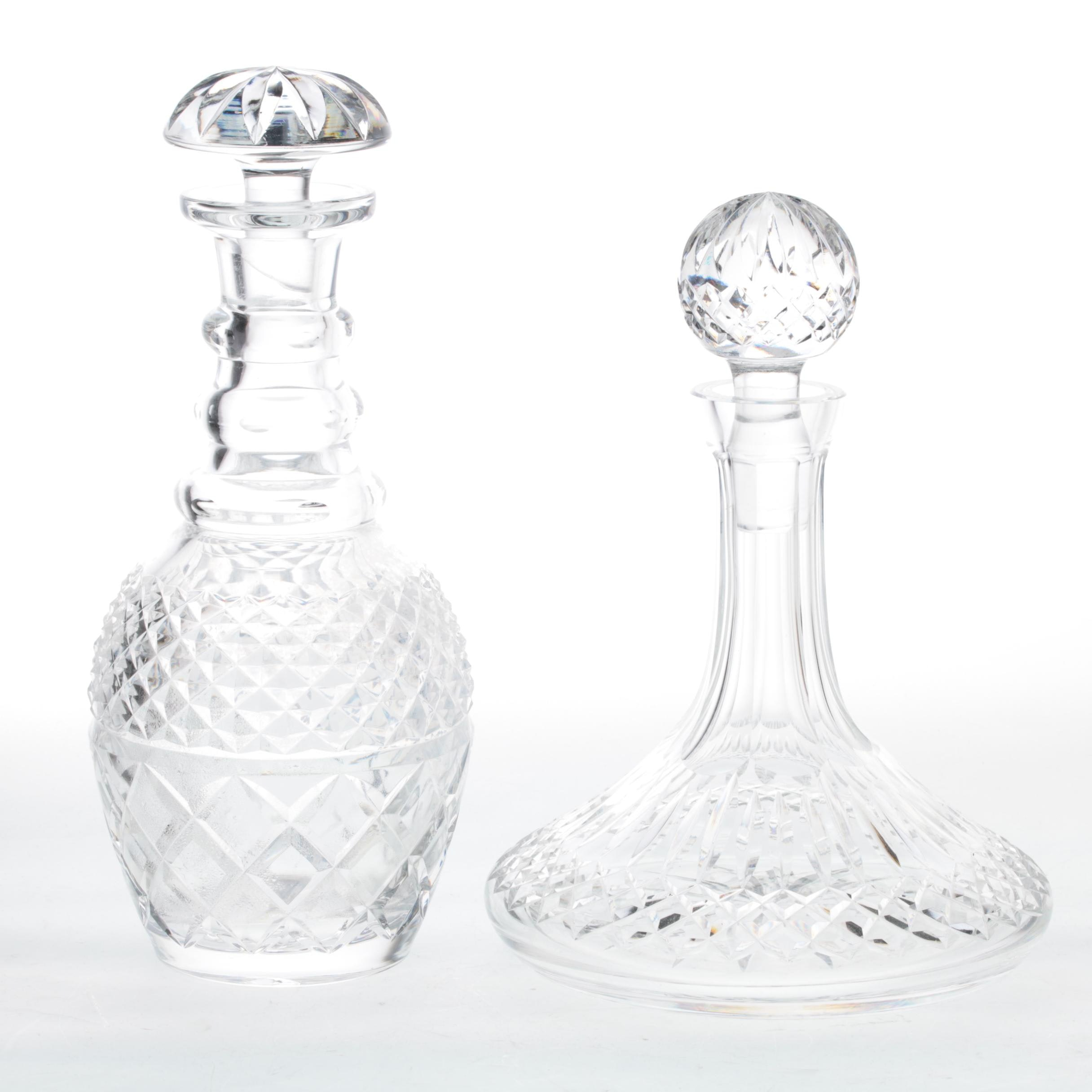 """Decanters Featuring Waterford Crystal """"Lismore"""""""