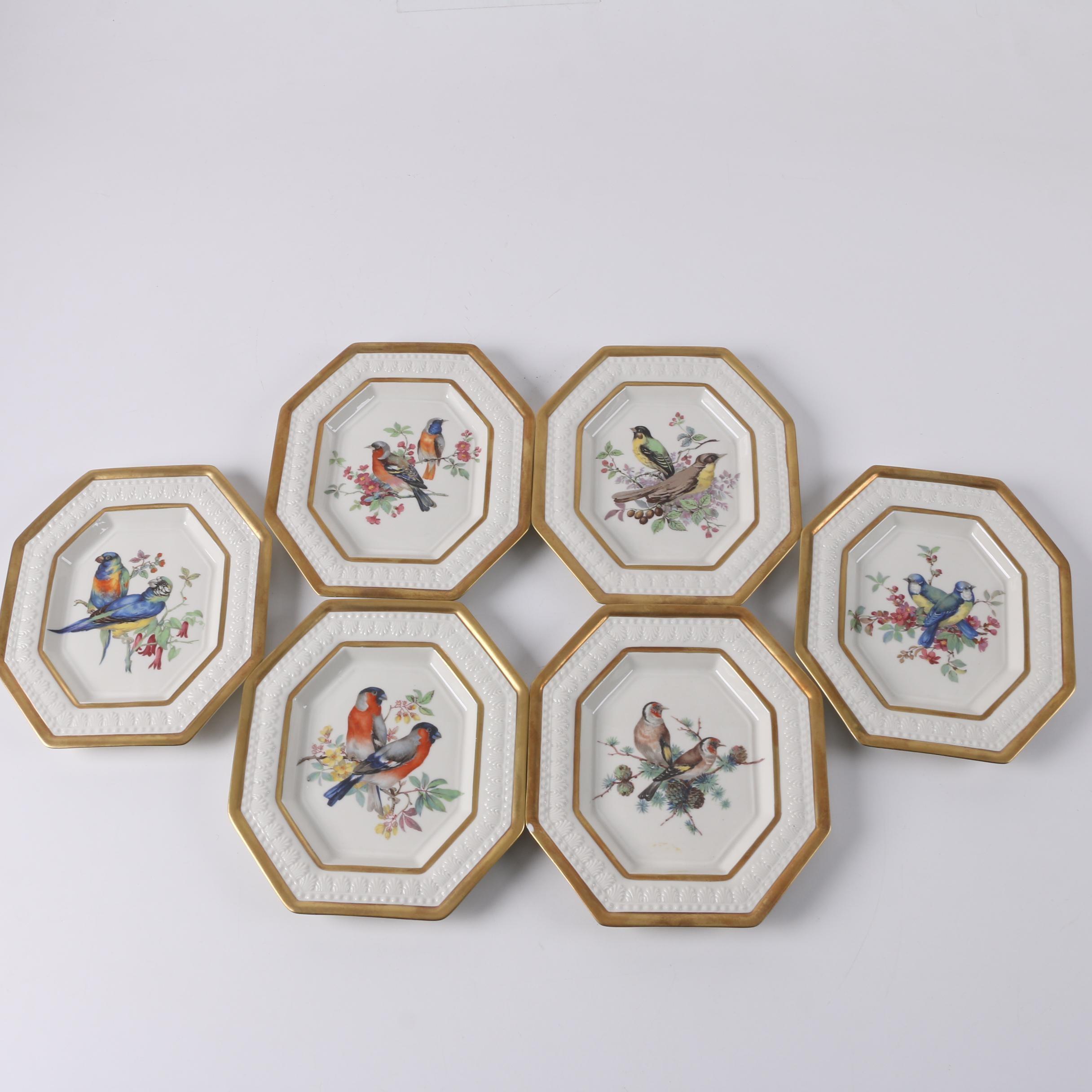 Chelsea House Port Royal Hand Made Italian Porcelain Bird Plates