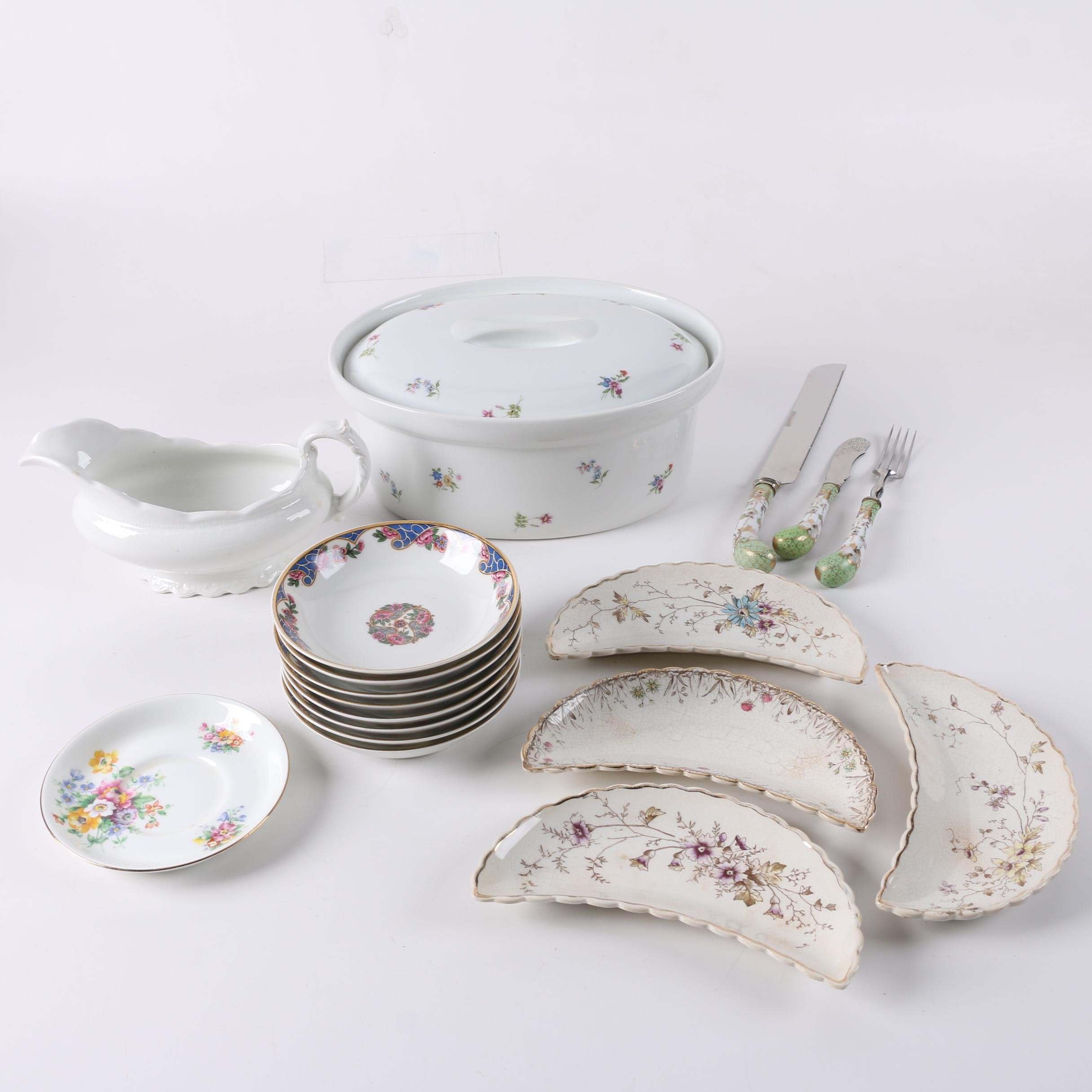 Serveware Including Vintage W. H. Grindley & Co. ca. 1914-25