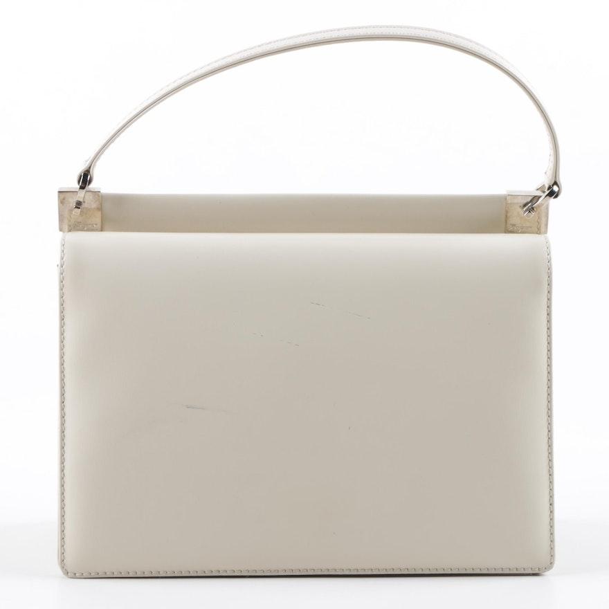 2ee9d1868cf5d Vintage Salvatore Ferragamo Off-White Leather Handbag | EBTH