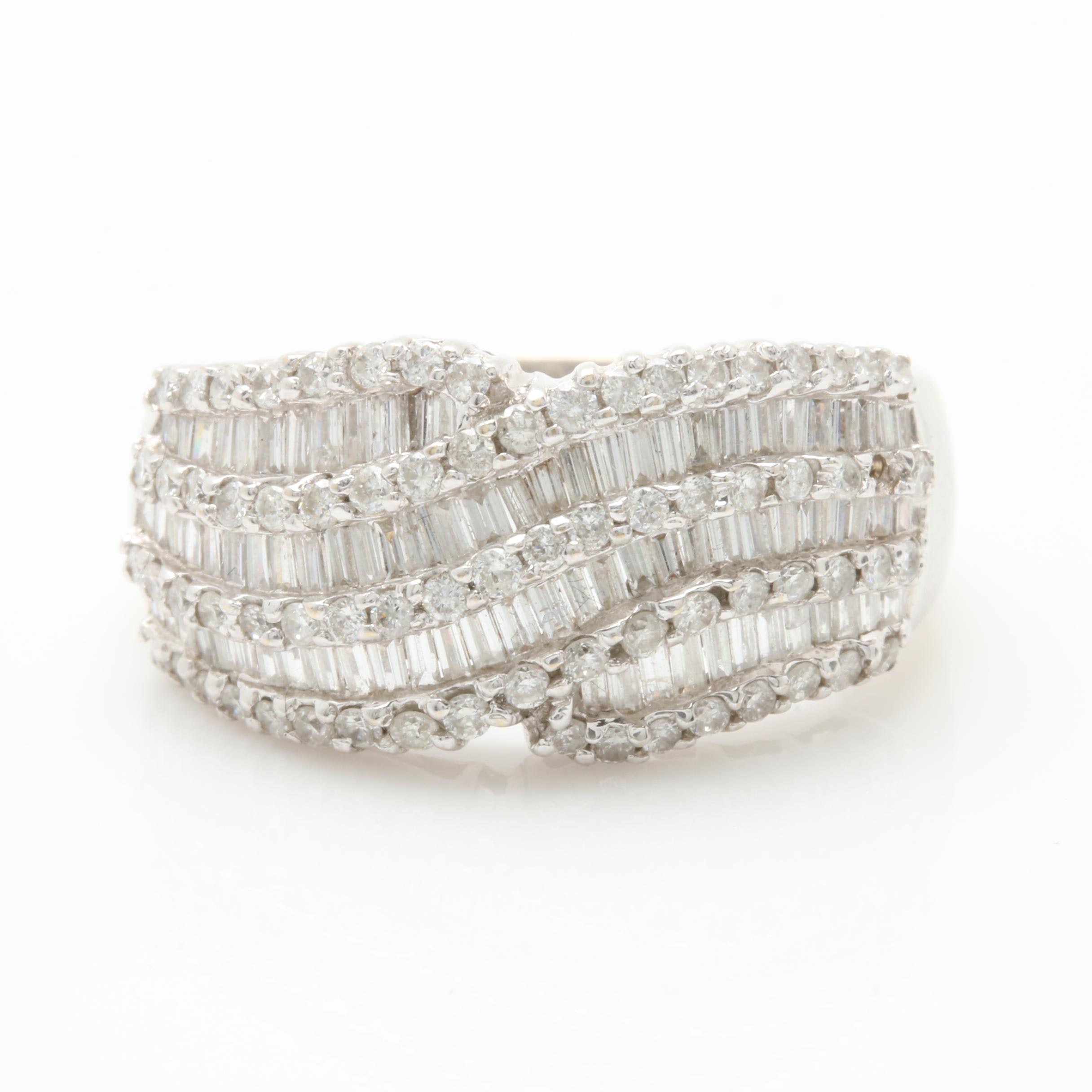 18K White Gold 1.48 CTW Diamond Ring