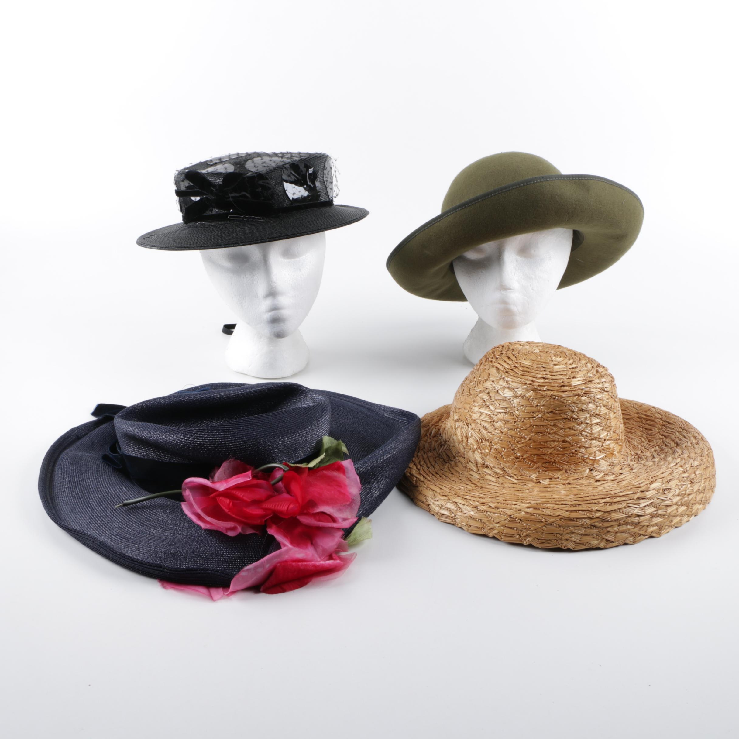 Women's Vintage Hats Featuring Cacharel and Jean Arlett