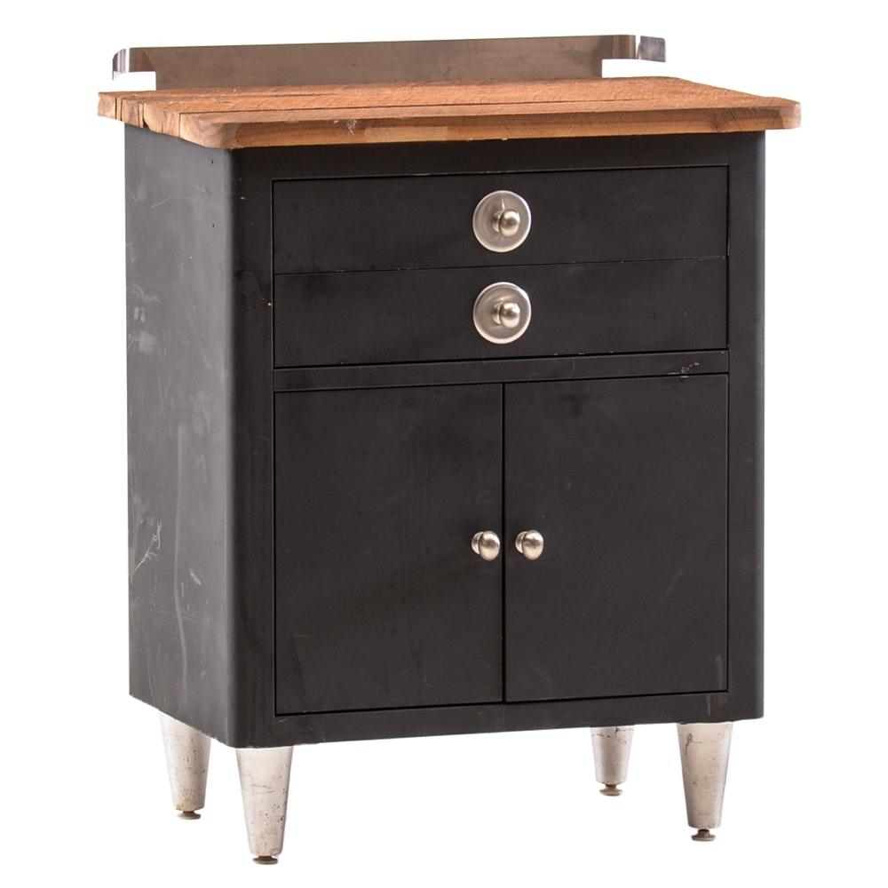 Repurposed Vintage Metal Cabinet