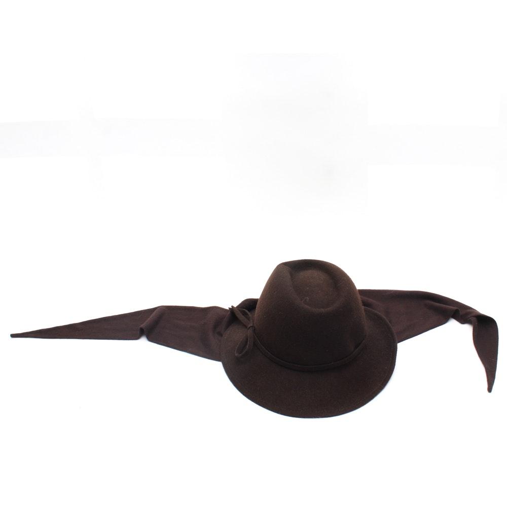 Betmar Brown Felted Wool Hat