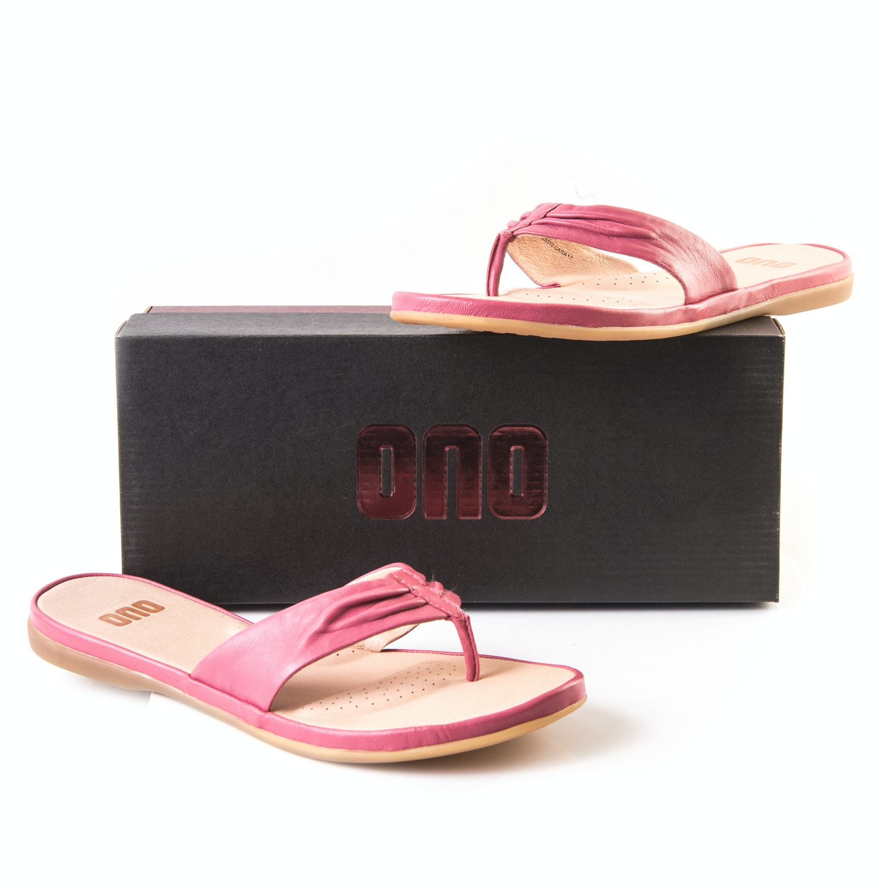"Ono ""Liv"" Pink Leather Sandals"