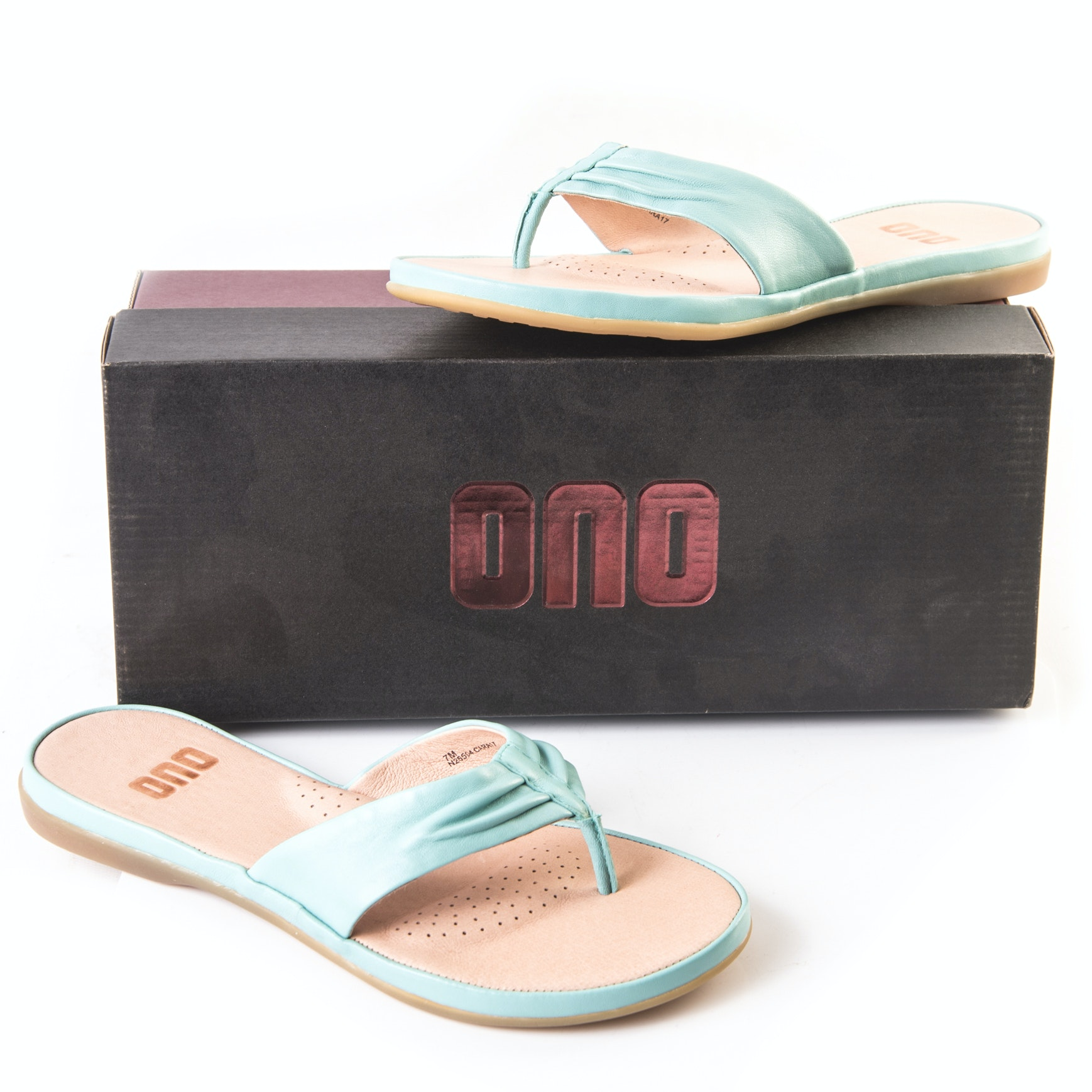 "Ono ""Liv"" Blue Leather Sandals"