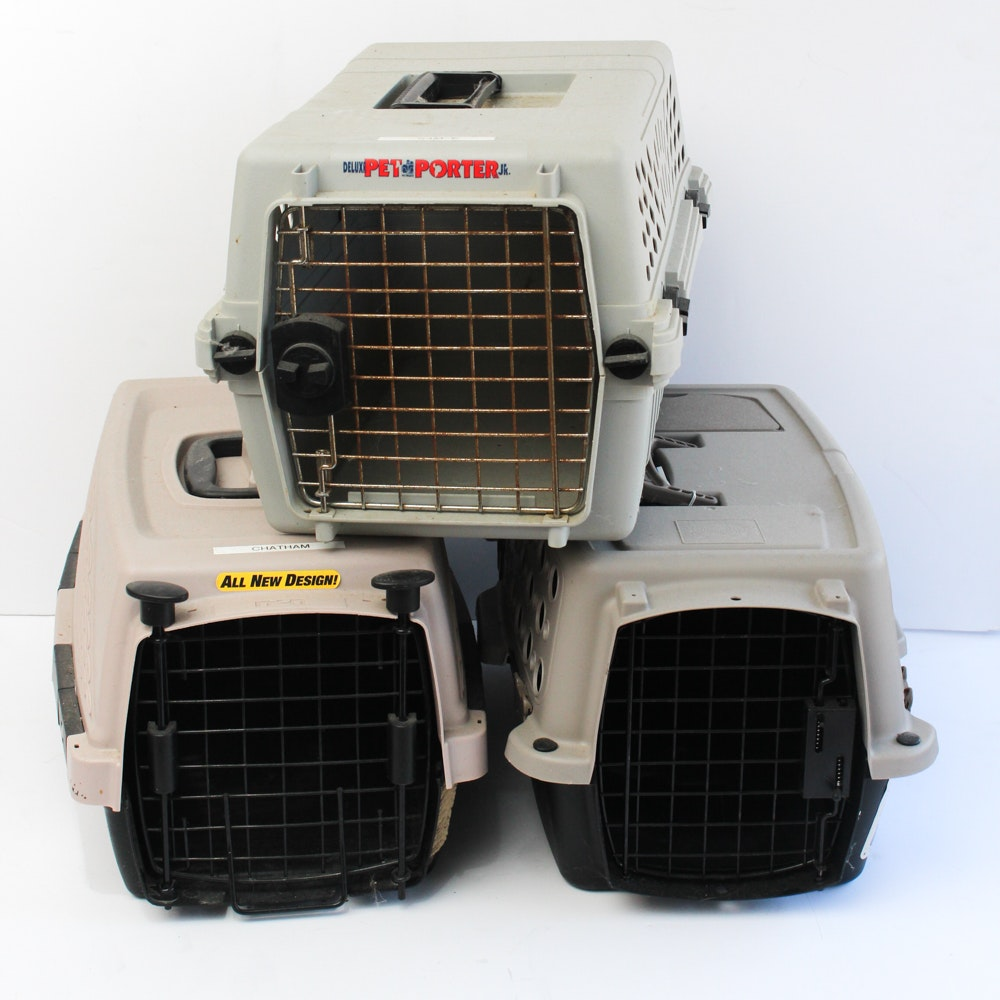 Three Portable Pet Carriers