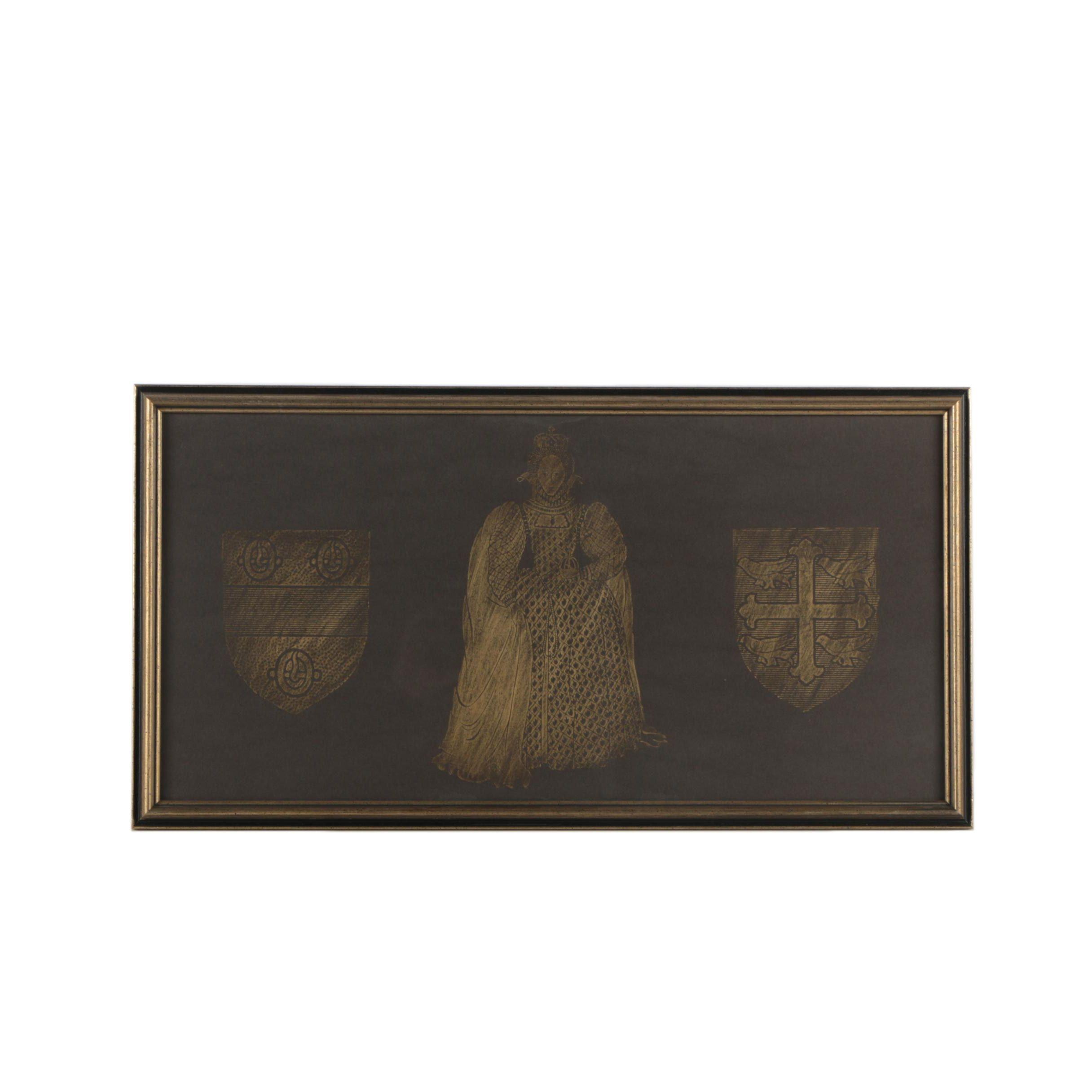 Monumental Brass Rubbing of Elizabeth I