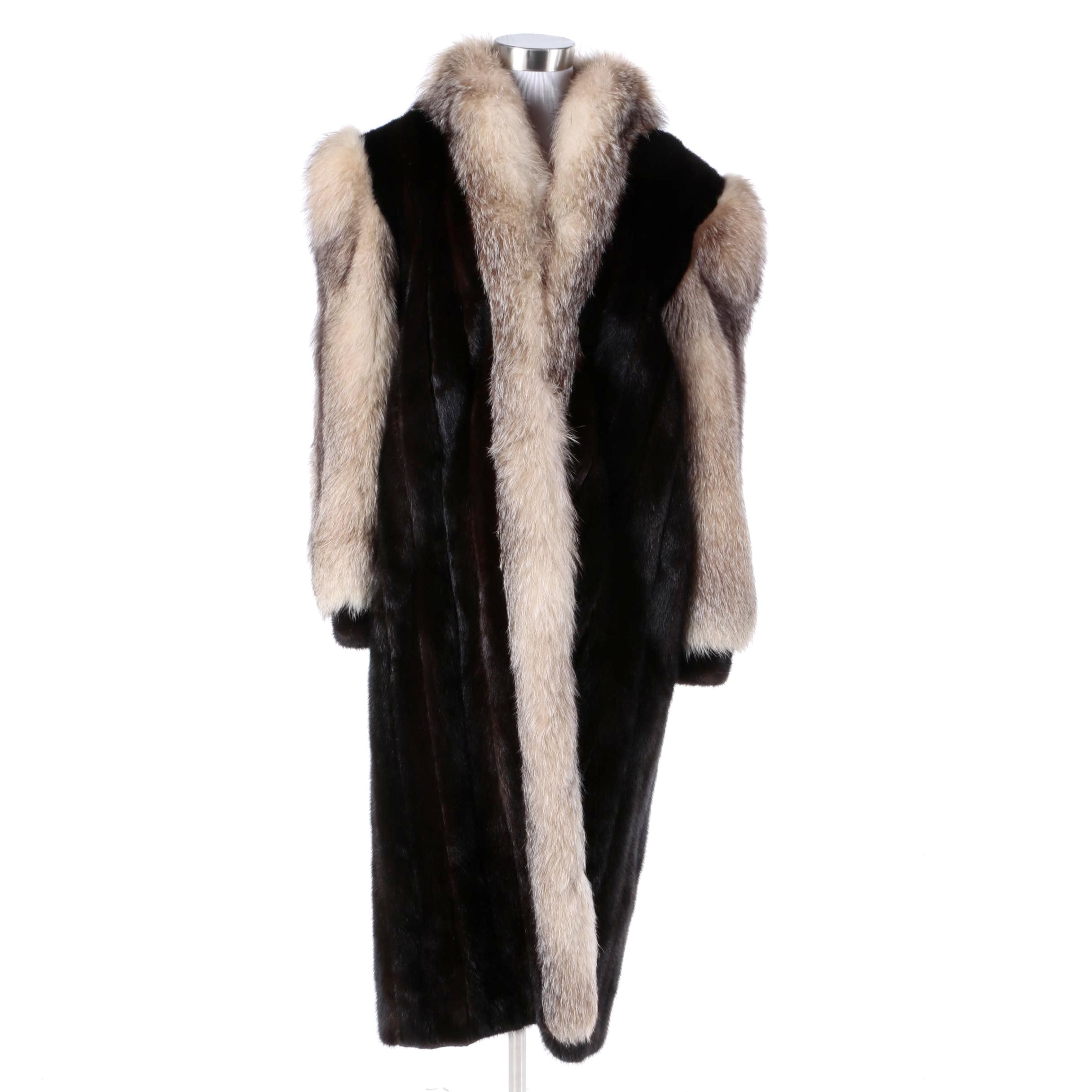 Women's Vintage Fox and Mink Fur Coat