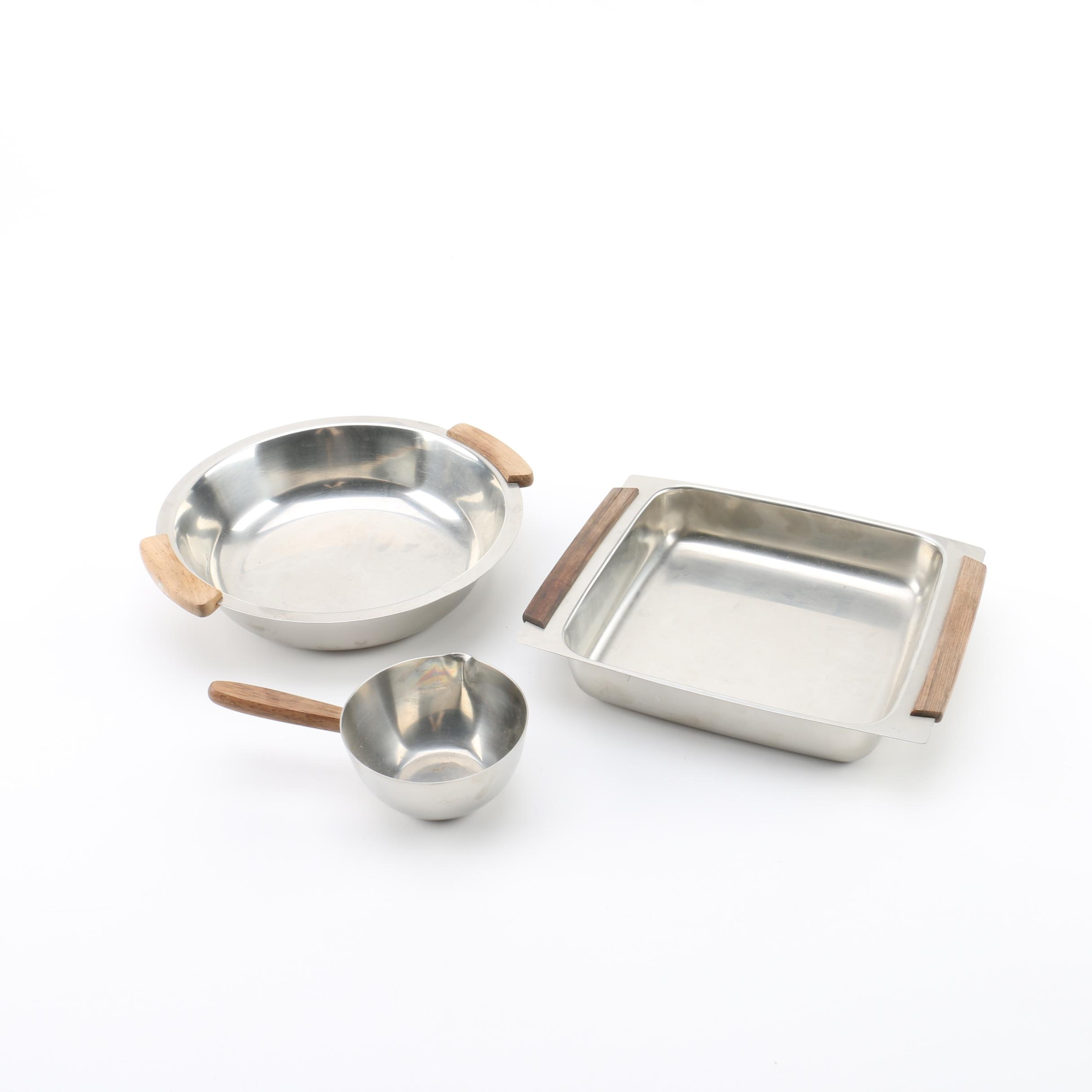 Danish Modern Bakeware Including NMT Stainless Steel