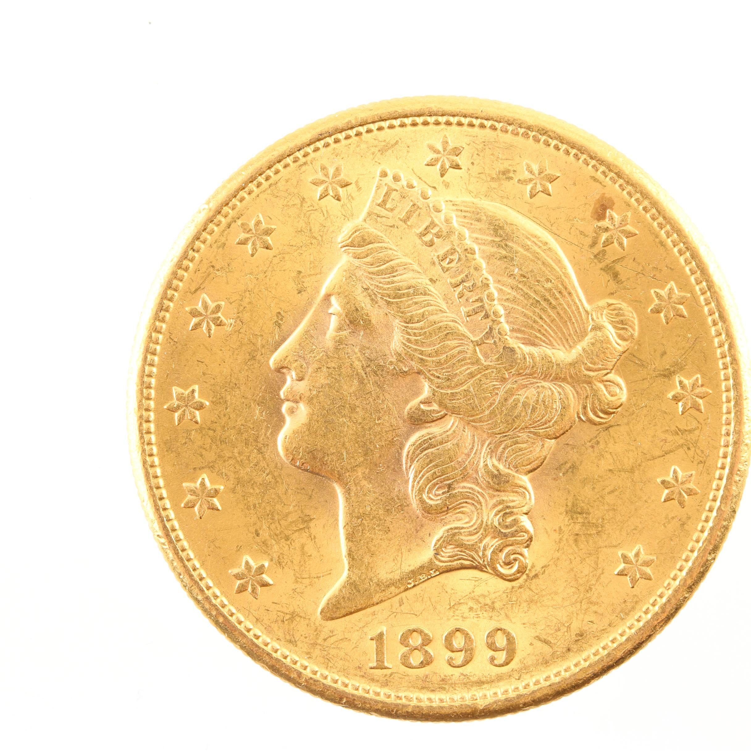 1899-S Liberty Head $20 Gold Coin