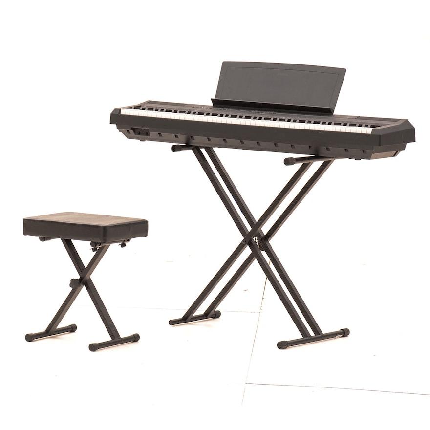 Yamaha P115 Digital Piano Keyboard With Stand And Stool