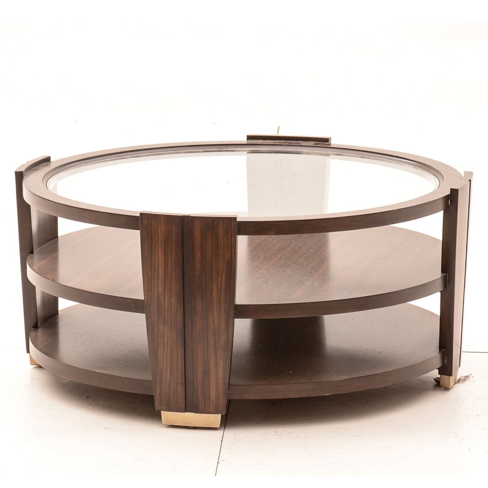Modern Style Glass Top Coffee Table