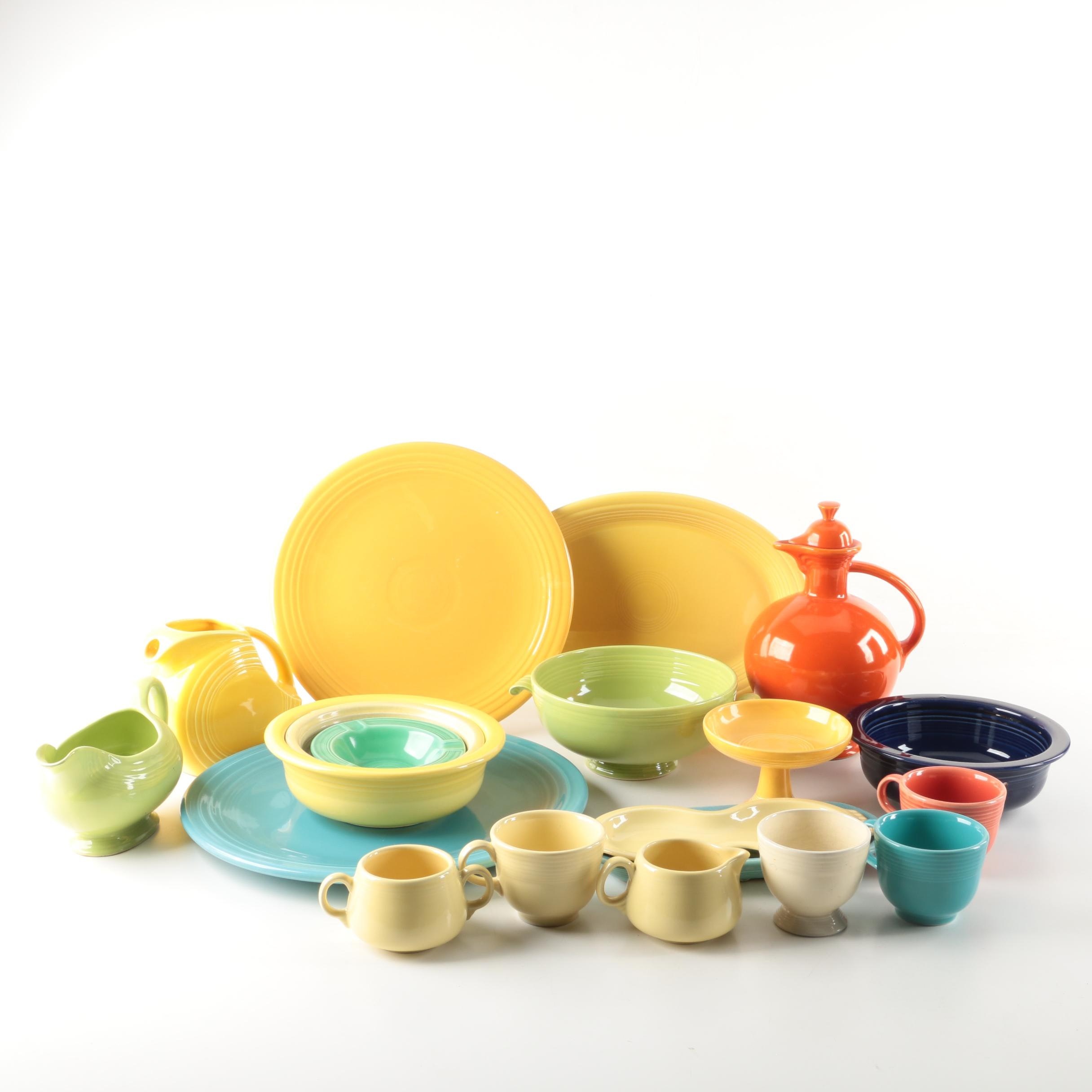 "Assortment of ""Fiesta"" Ware"