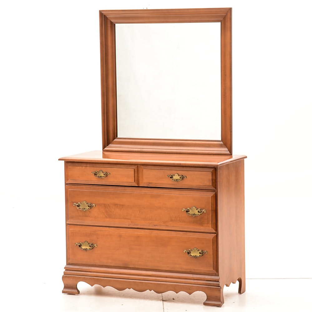 Maple Chest of Drawers with Mirror