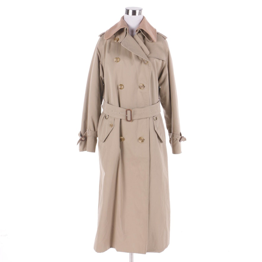 ab47df452f58b9 Women's Vintage Burberry Double-Breasted Trench Coat : EBTH