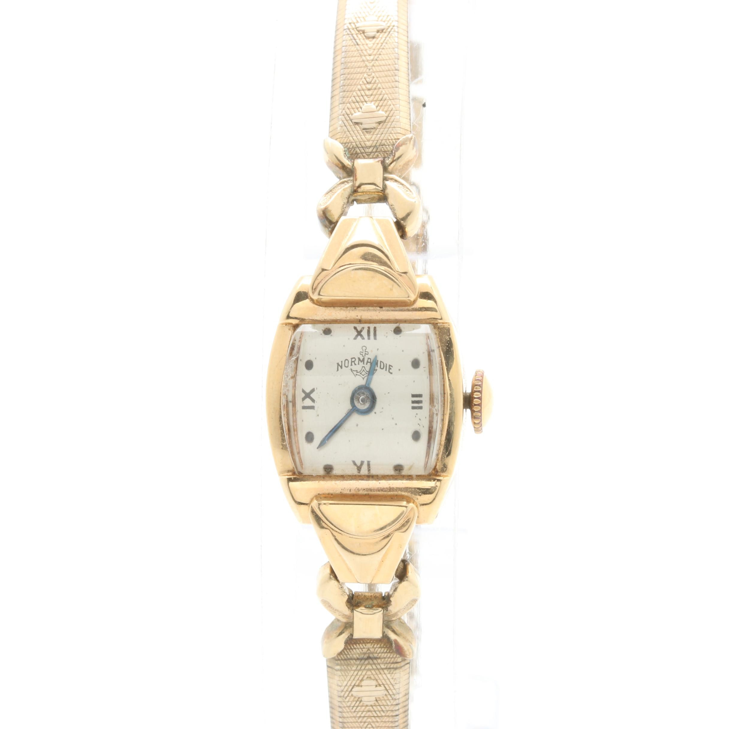 Normandie 14K Yellow Gold Wristwatch
