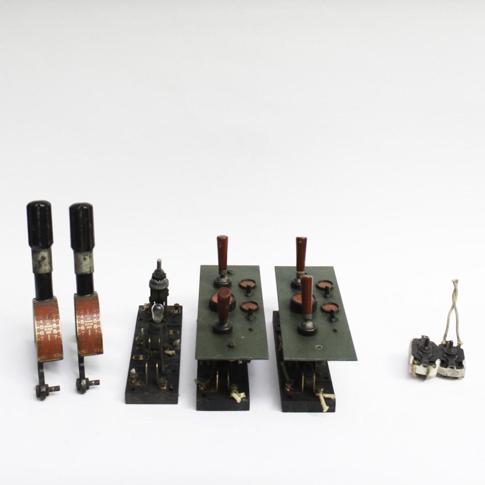 Vintage Hub Electric Company Lighting Switchboard Equipment