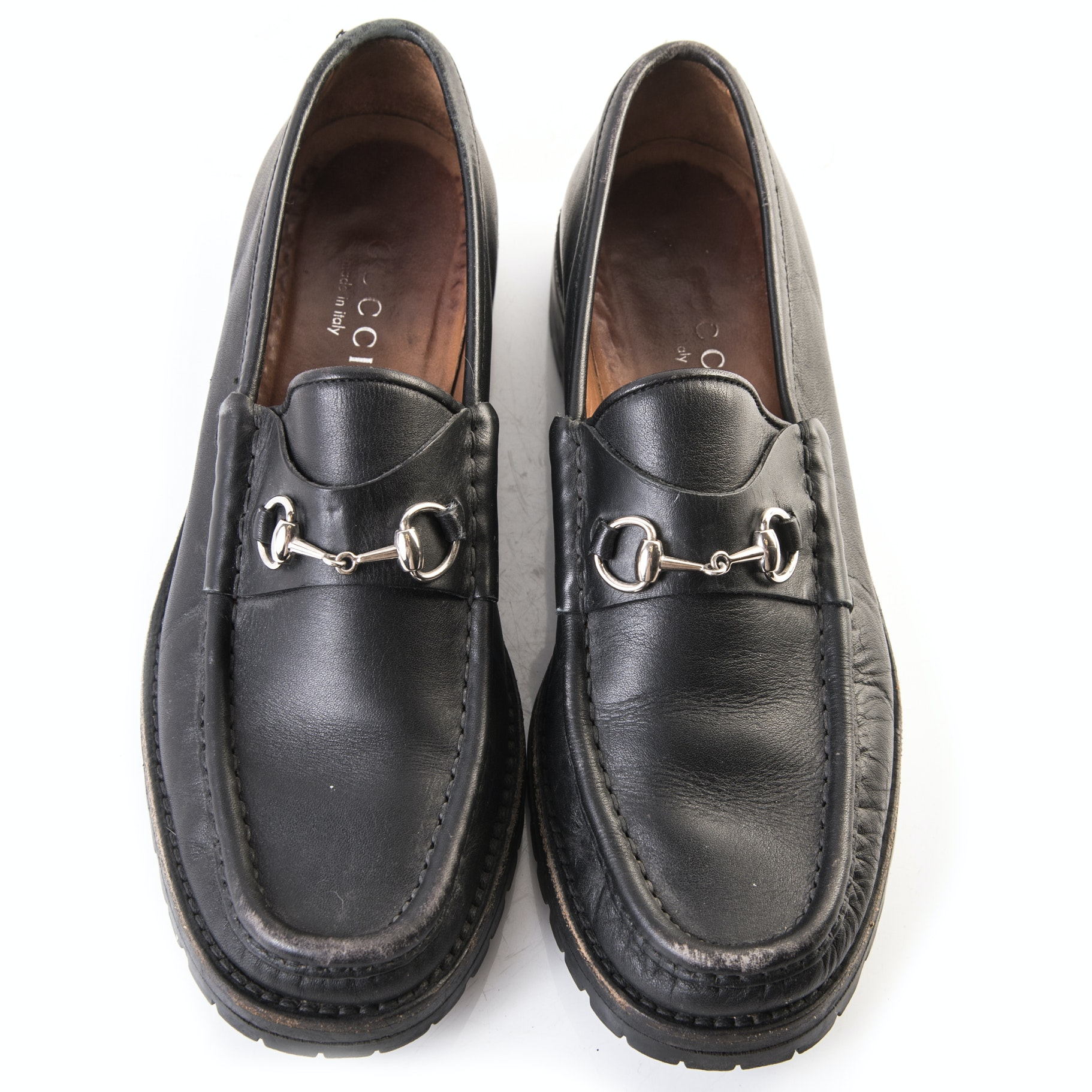 Women's Gucci Black Leather Loafers