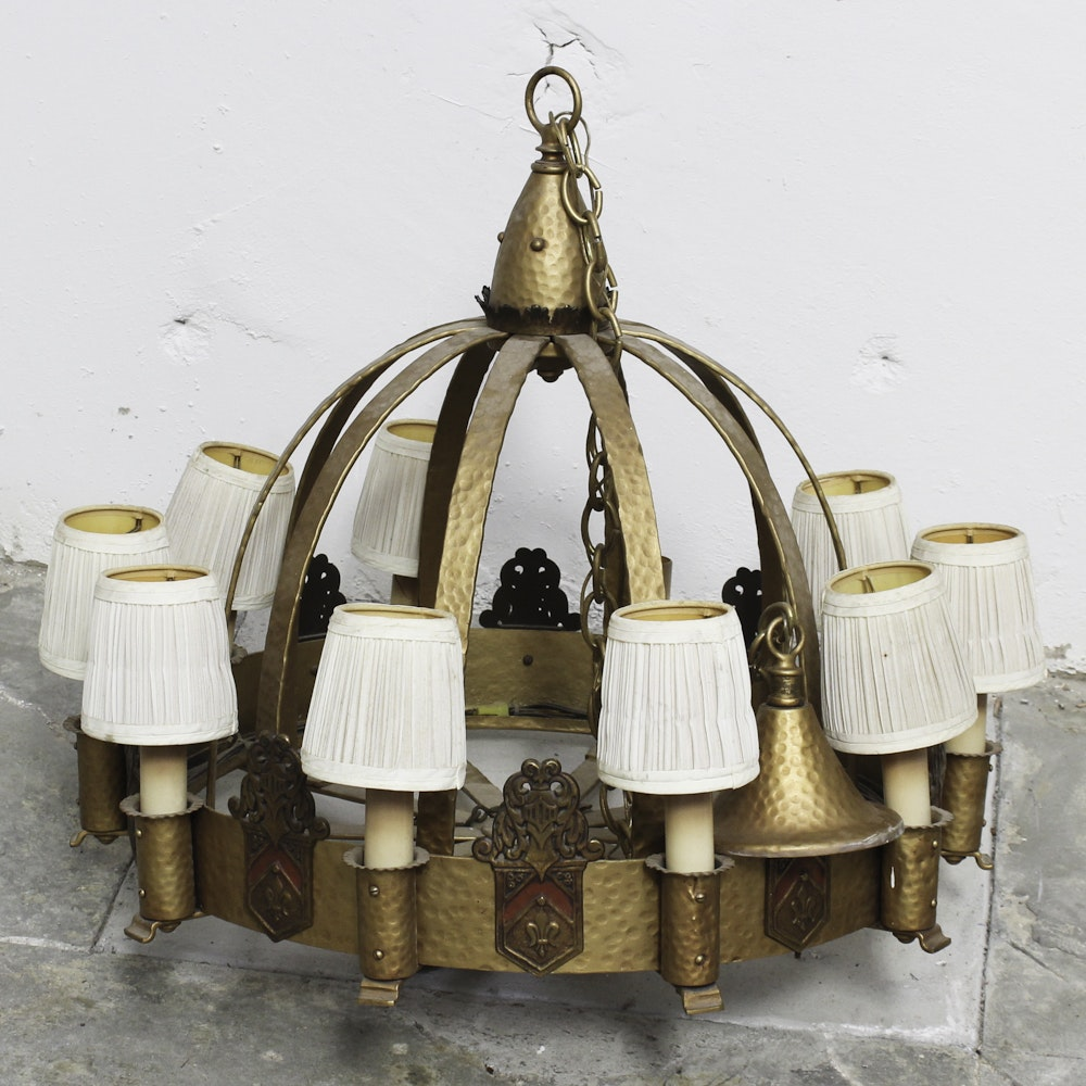 Vintage Gothic Revival Style Chandelier