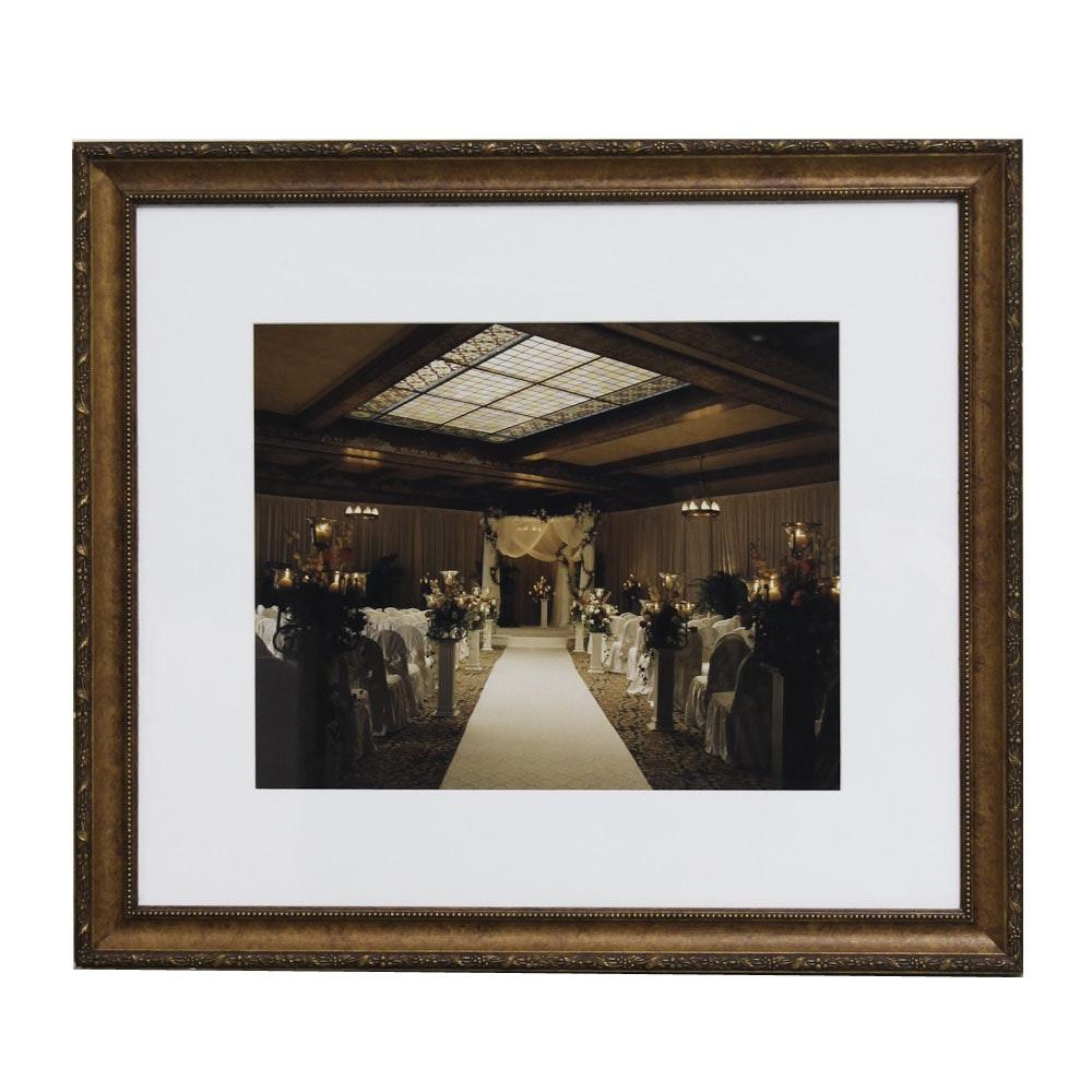 Color Photograph of a Wedding Hall