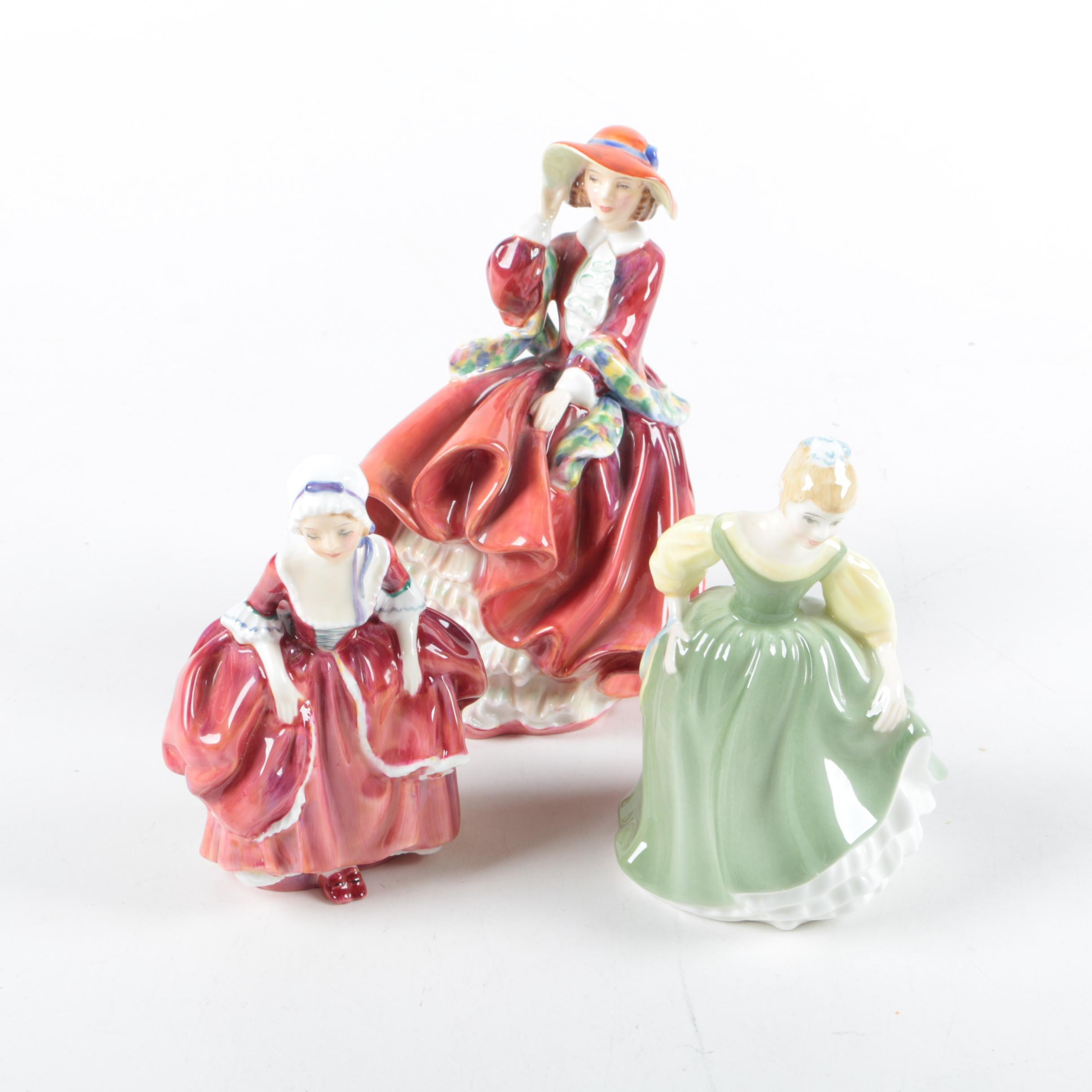 """Royal Doulton """"Top o' the Hill"""", """"Goody Two Shoes"""" and """"Fair Maiden"""""""