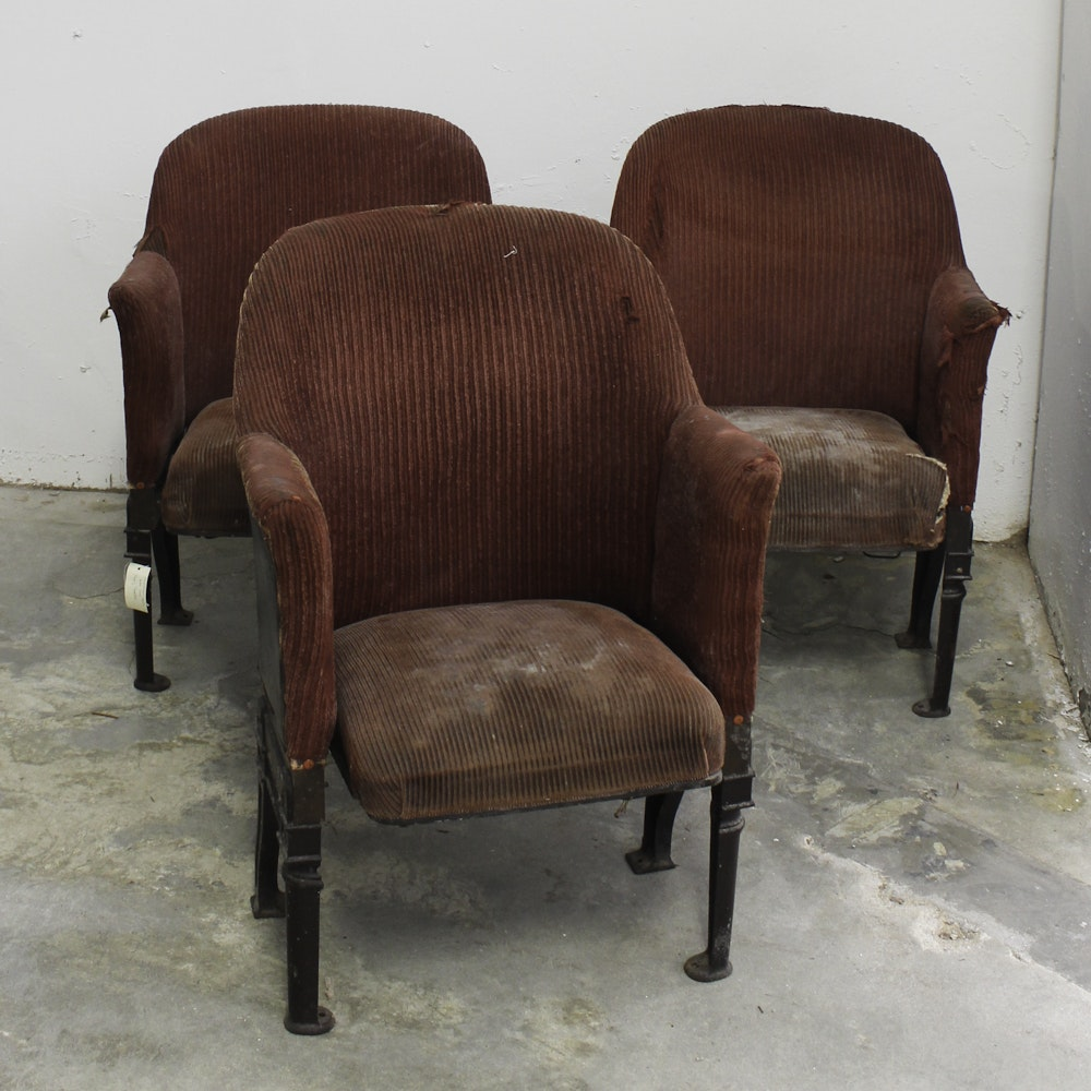 Vintage Upholstered Theater Seats