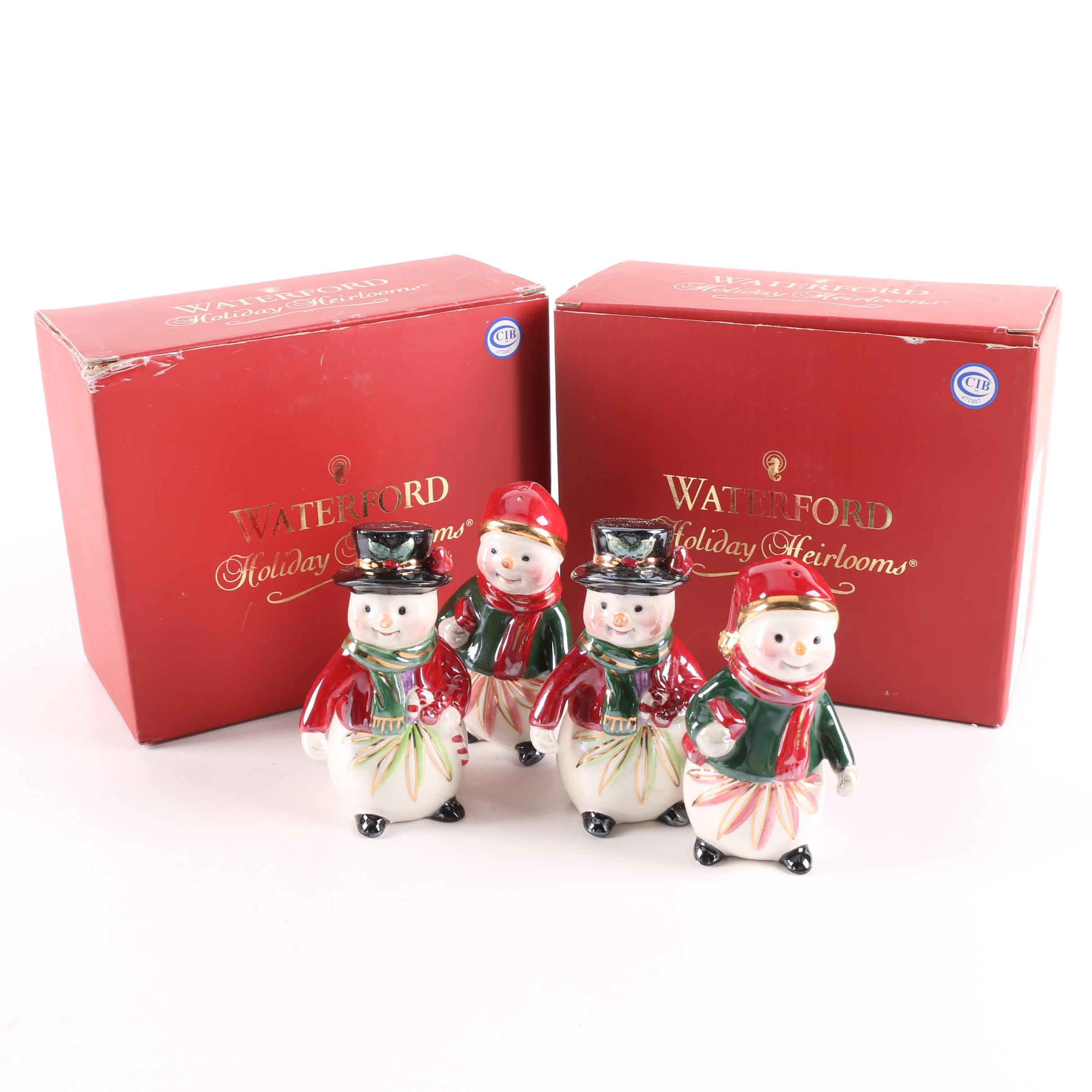 """Waterford """"Holiday Heirlooms"""" Salt and Pepper Shakers"""