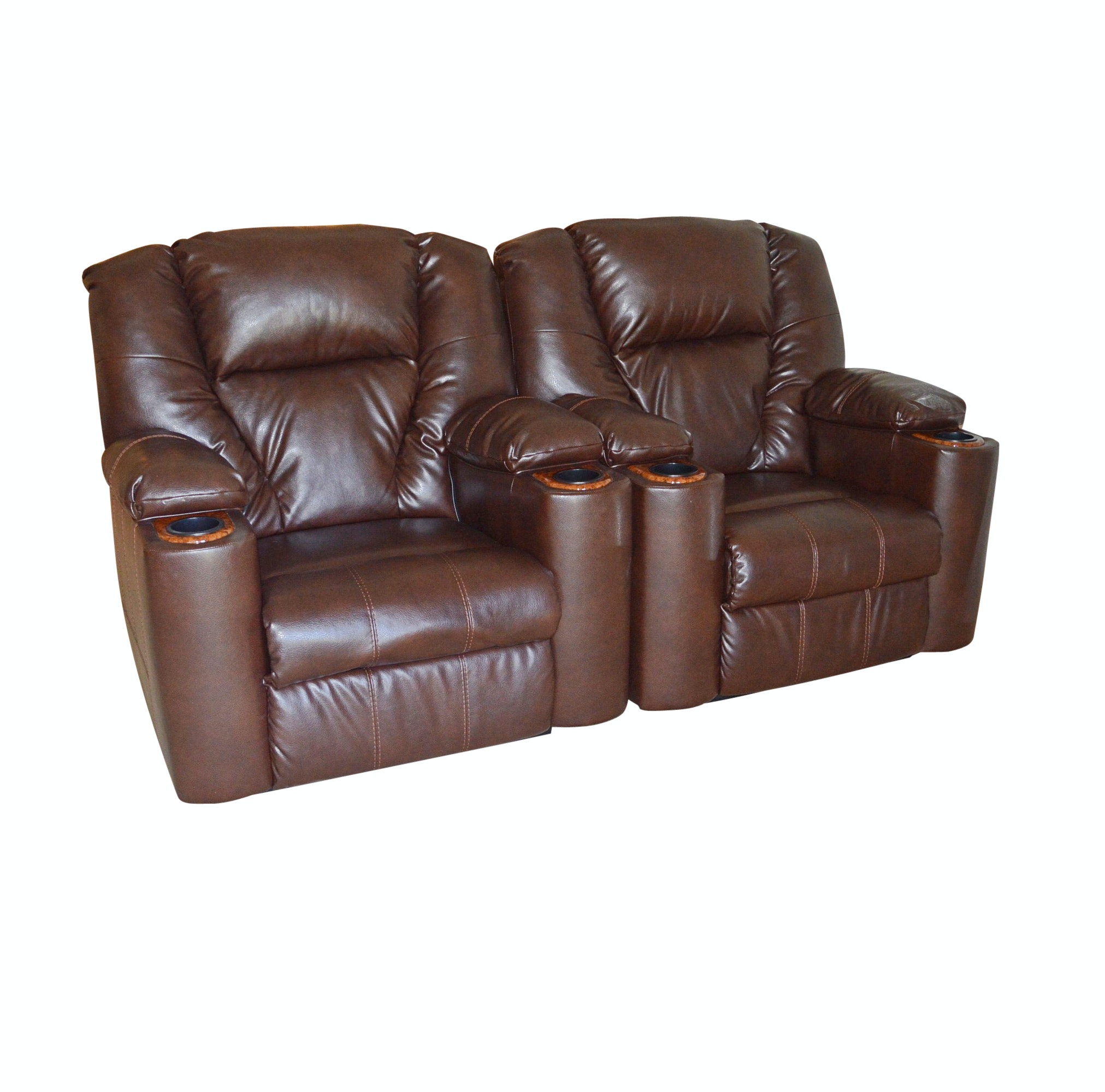 Pair of Reclining Theater Chairs