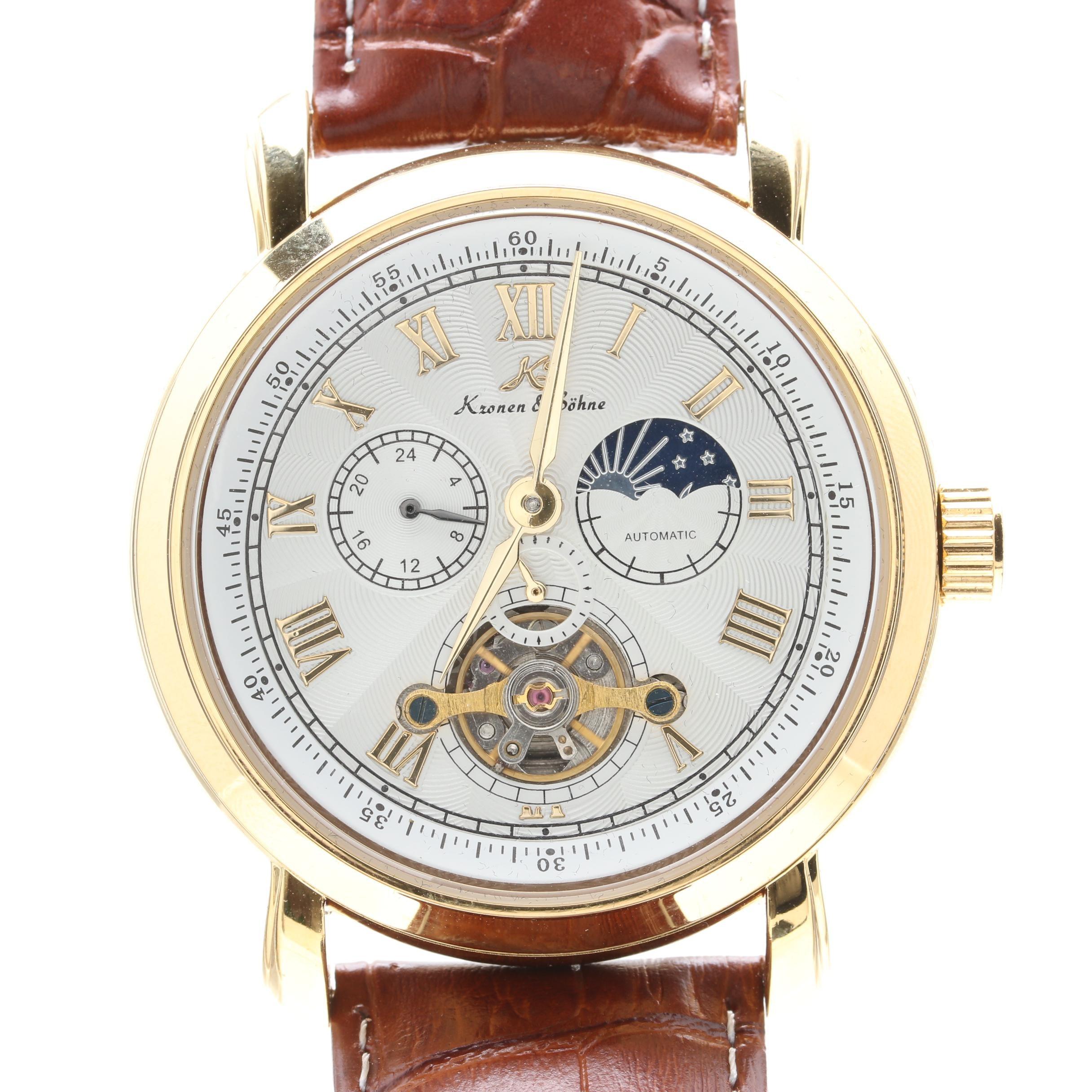 Kronen & Söhne Gold Tone Wristwatch