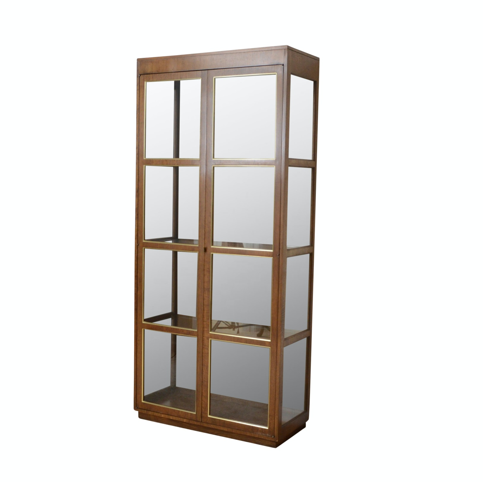 Lighted Oak Display Cabinet