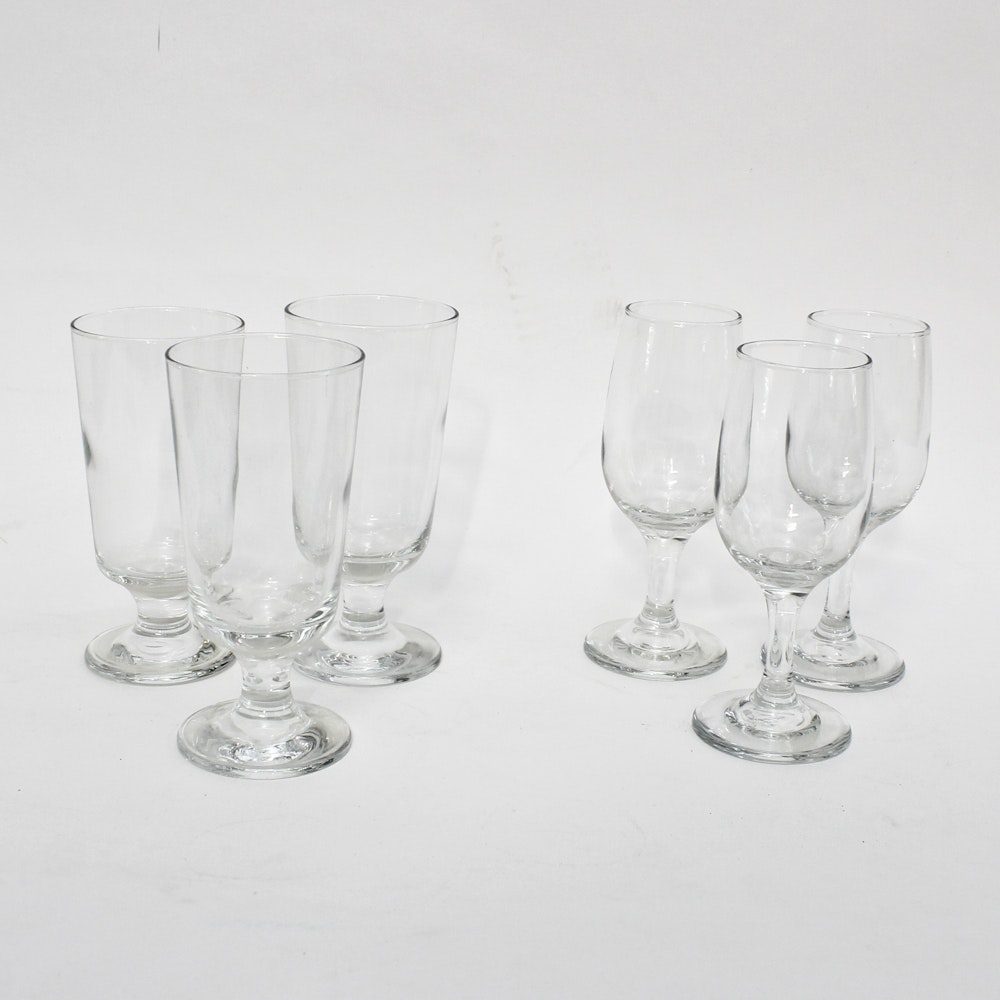 Commercial Wine and Tea Stemware Glasses