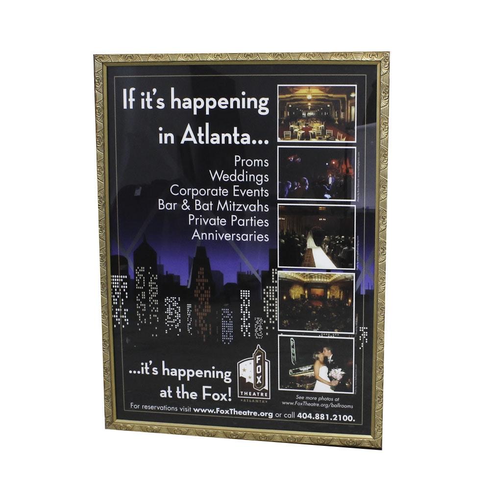Framed Fox Theater Poster
