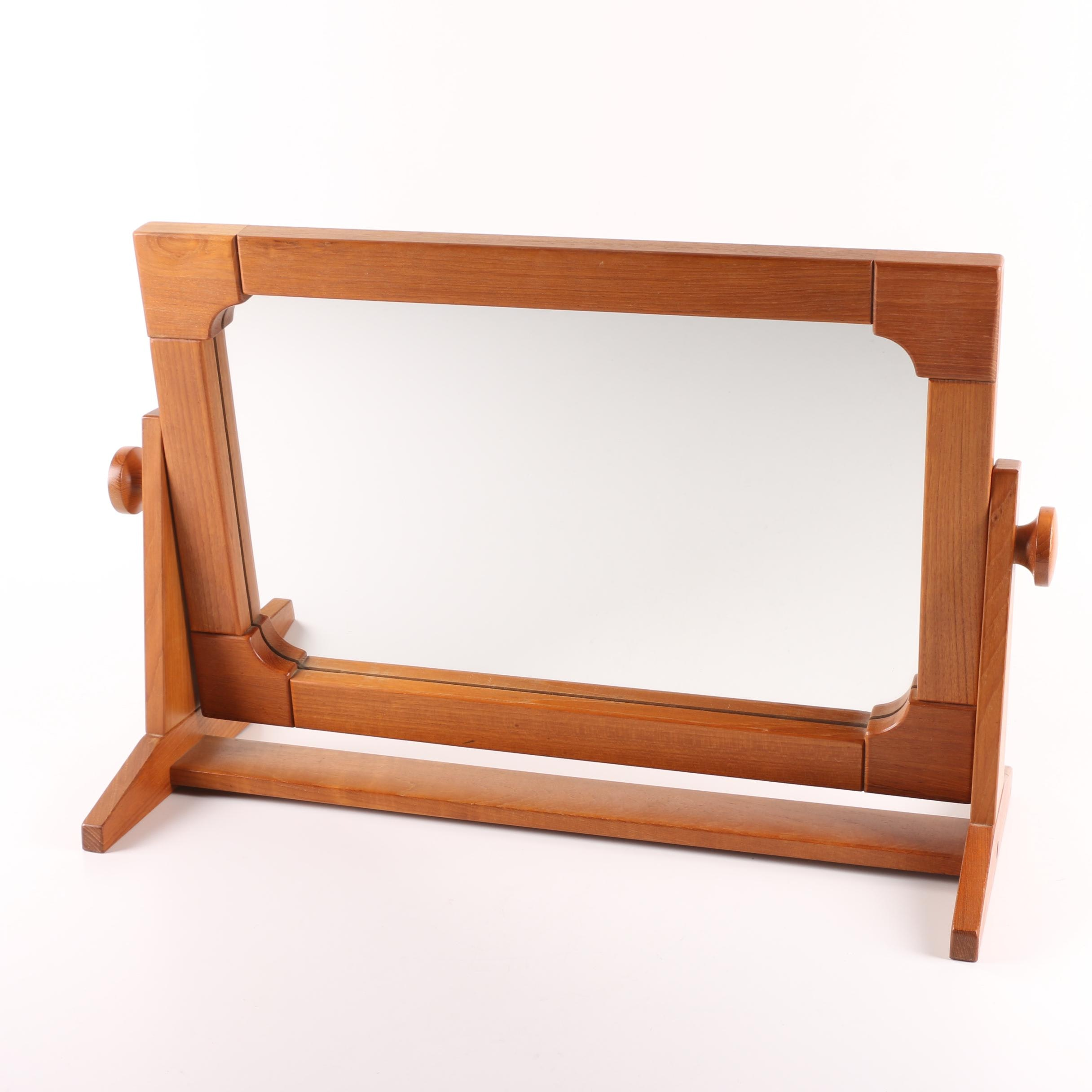 Pedersen & Hansen Danish Mid Century Modern Teak Vanity Mirror