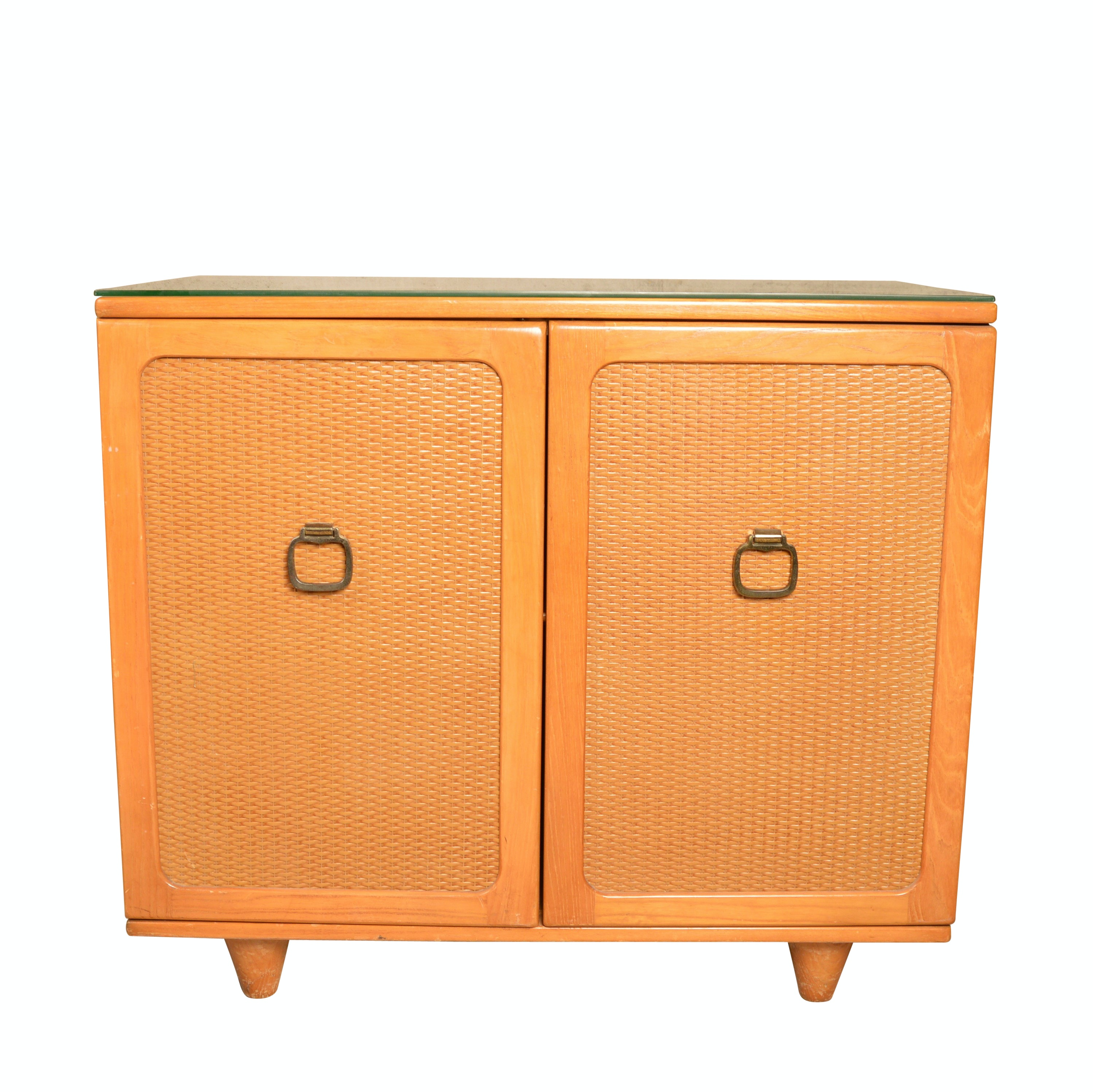 Blonde Figured Hardwood Credenza By Owosso Manufacturing ...