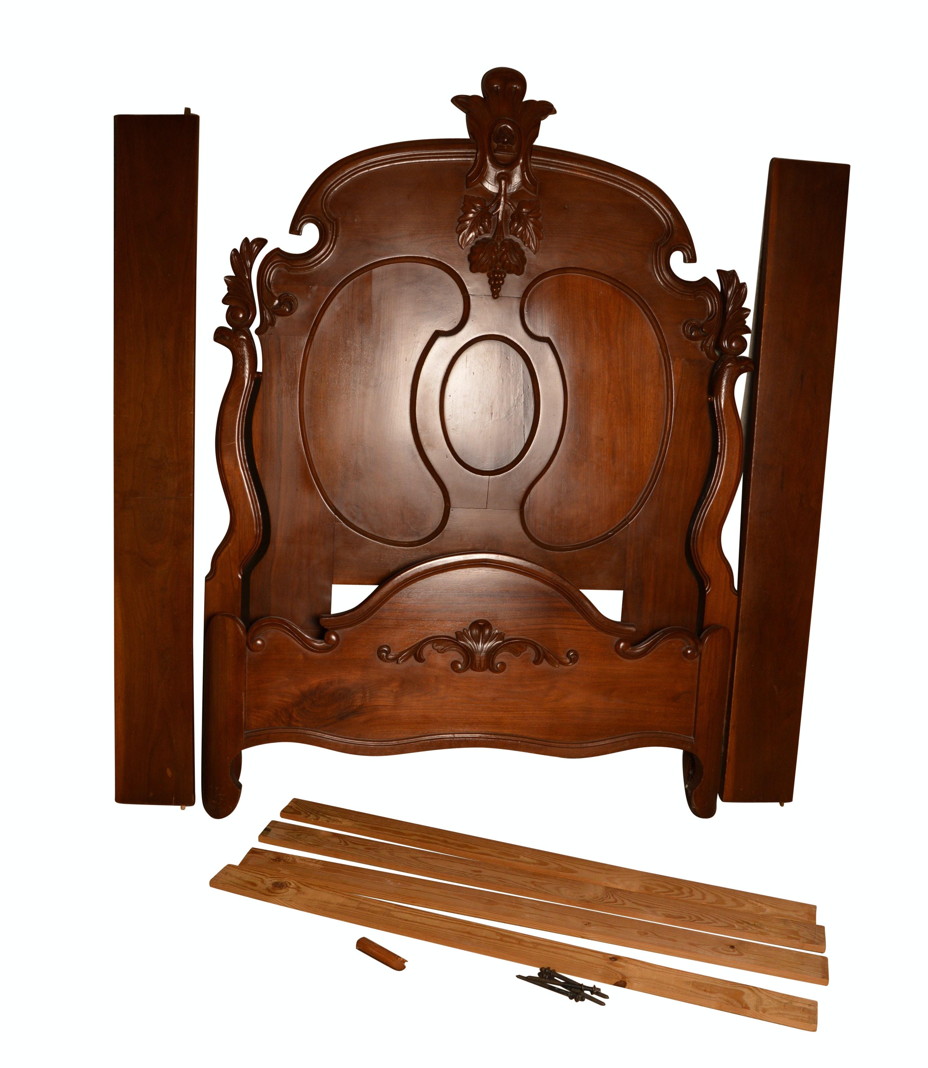 Antique Eastlake Style Wooden Bed Frame