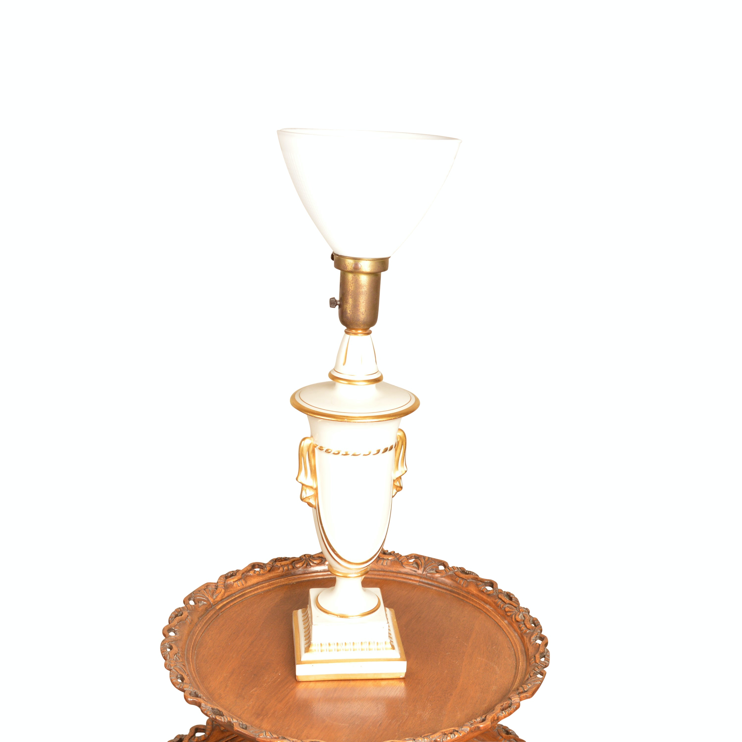 Neoclassical Style Glass Table Lamp
