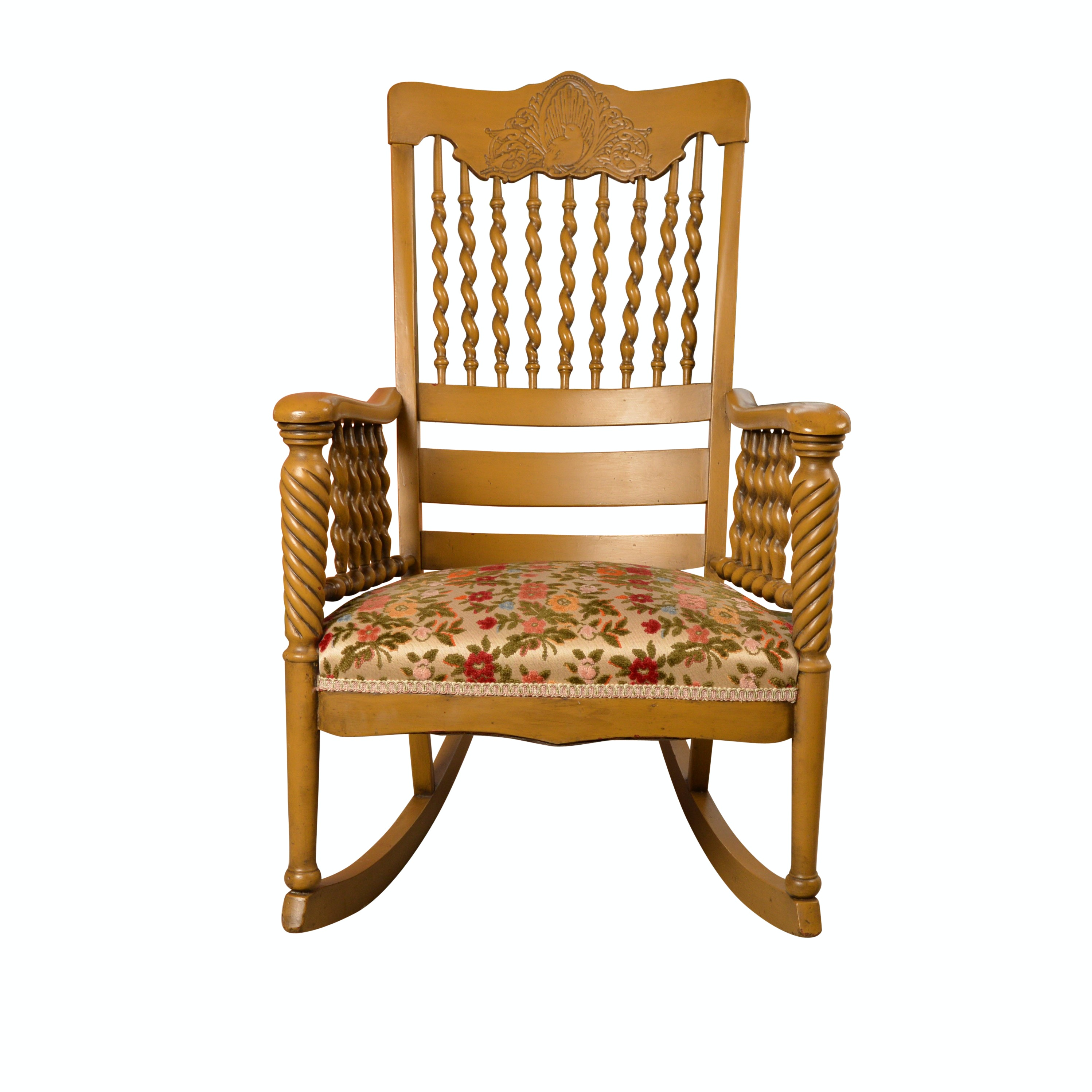 Victorian Style Pressed Back Rocking Chair