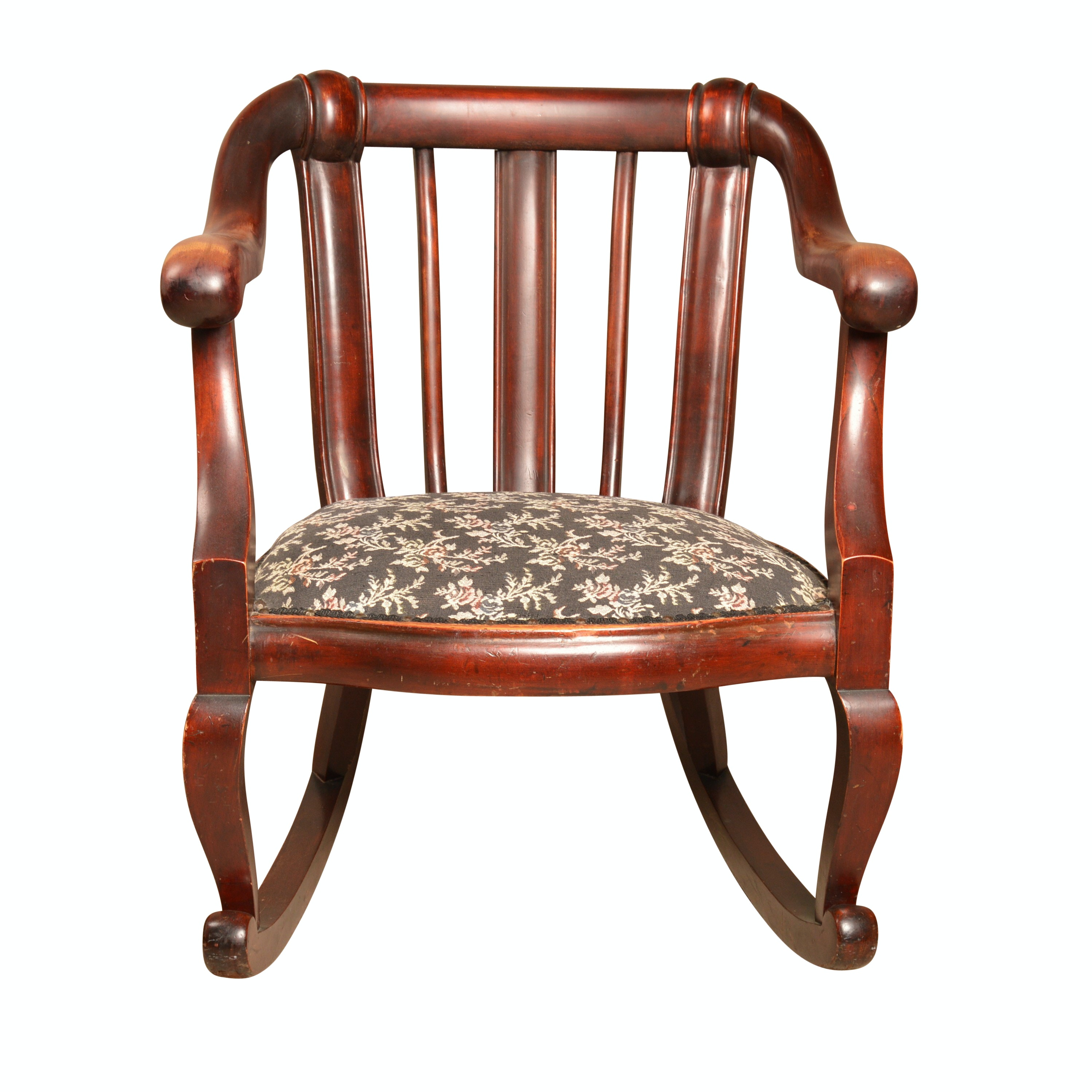 Empire Revival Style Wood Rocking Chair