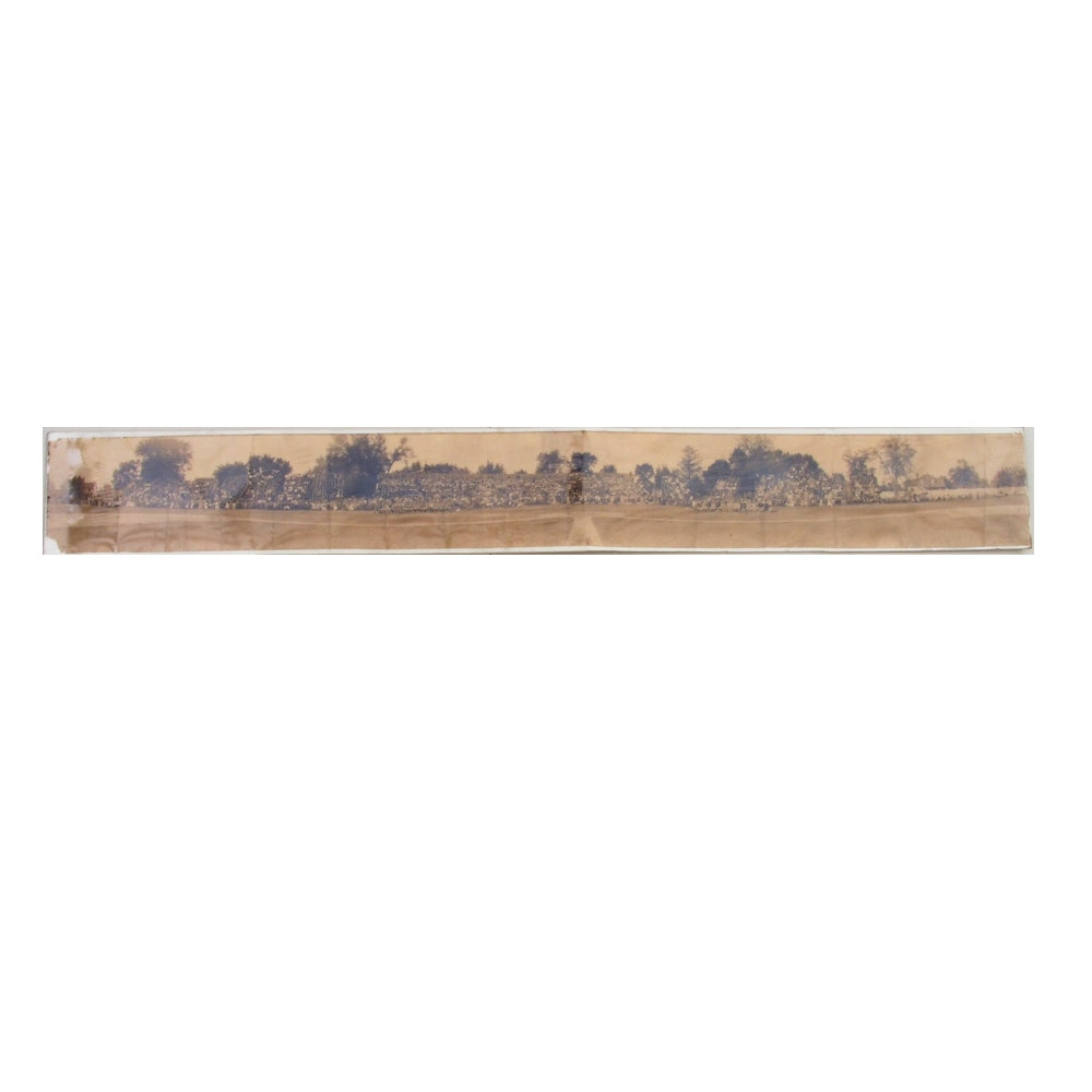 Early 1900s Illinois - Michigan Baseball Panoramic Photo