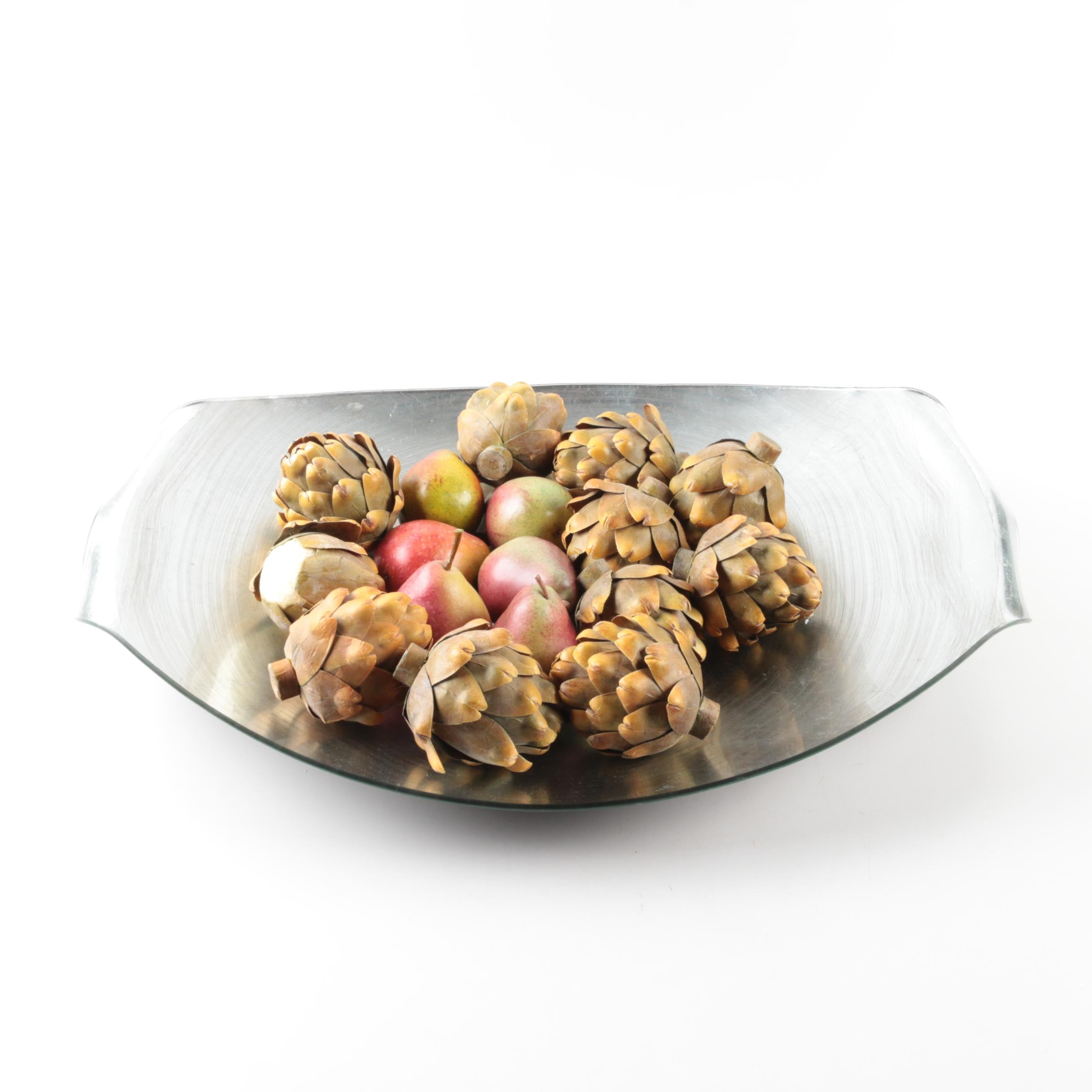 Neiman Marcus Tray with Decorative Fruit
