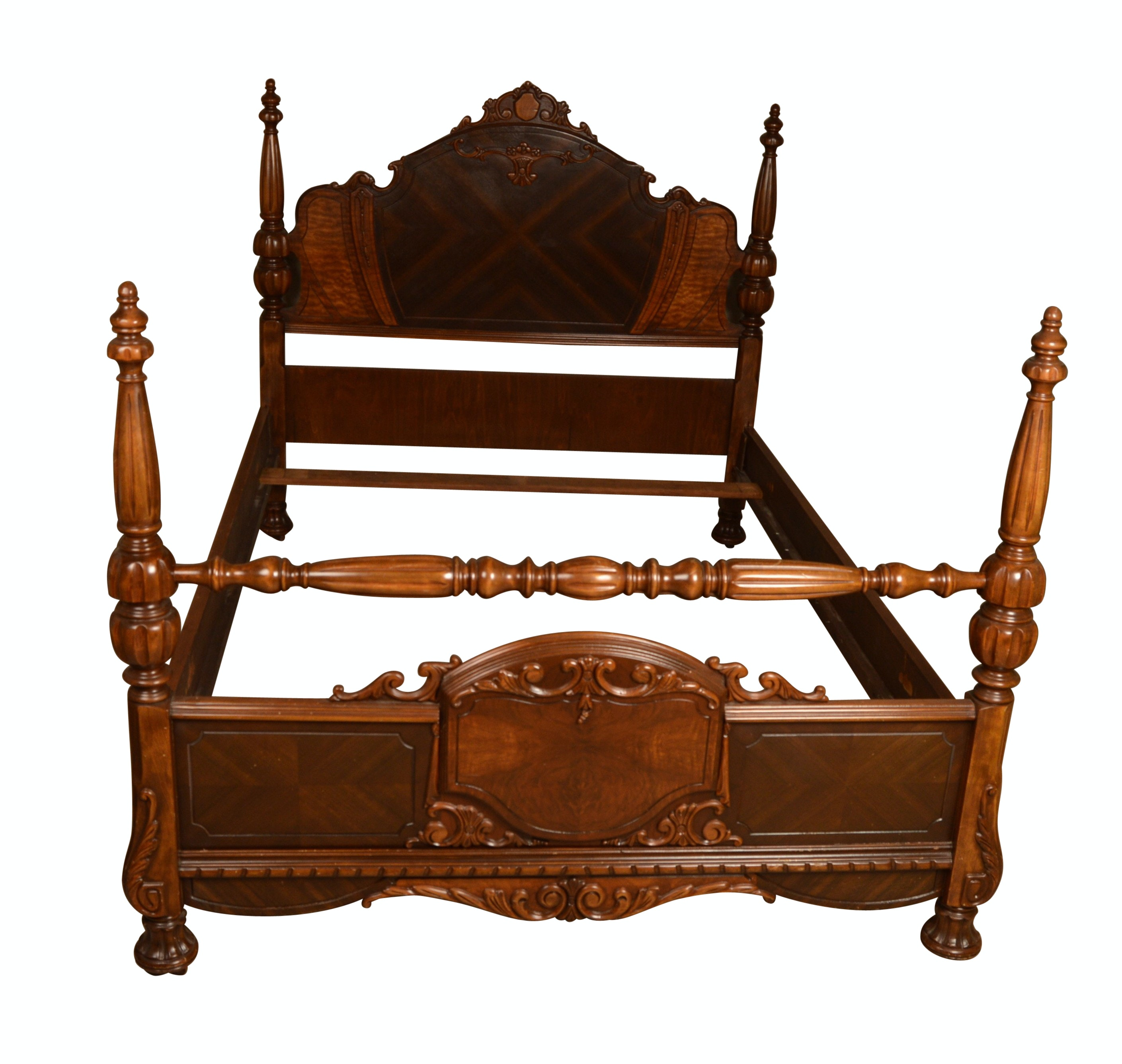 Victorian Style Full Size Wood Bed Frame