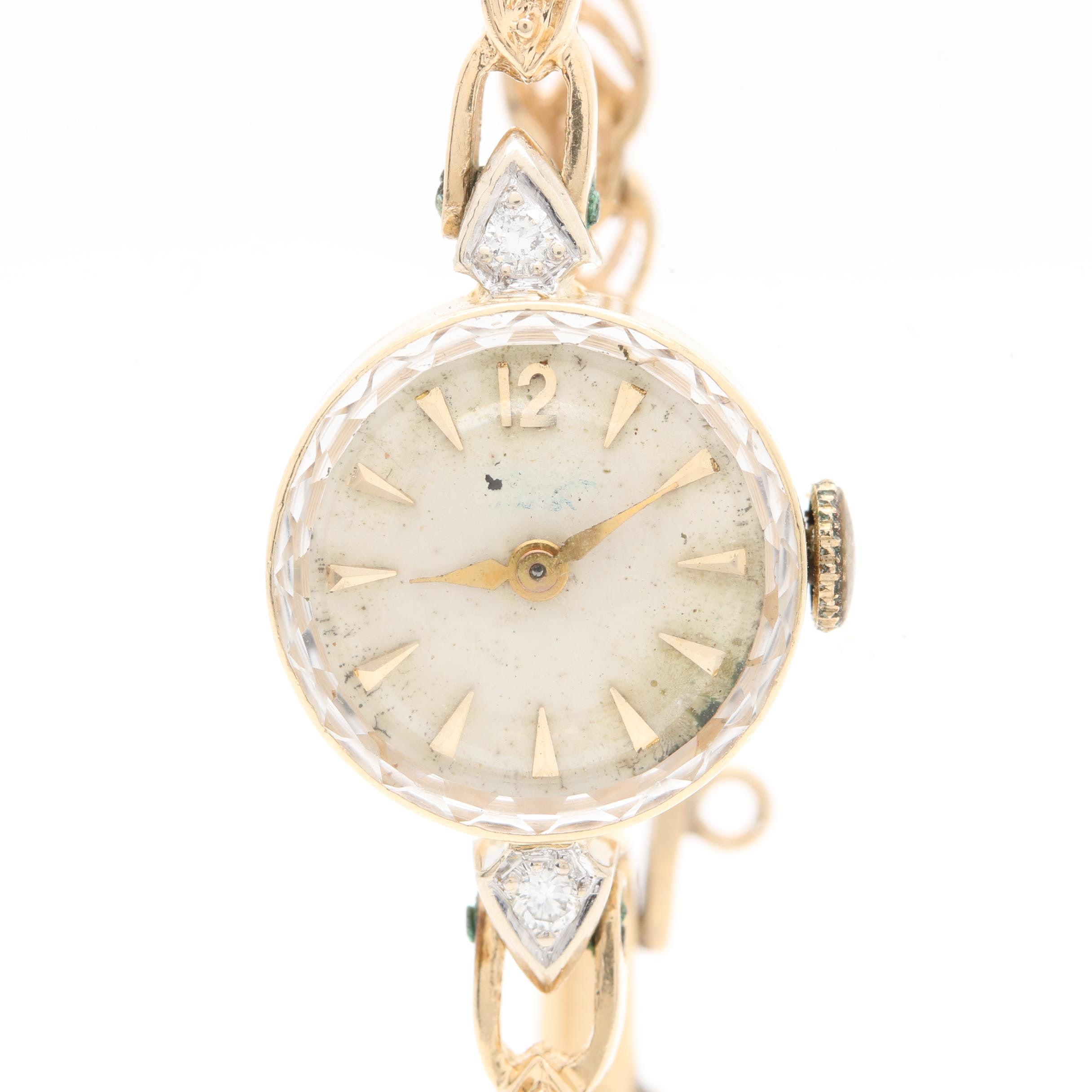 Girard-Perregaux 14K Yellow Gold Diamond Wristwatch