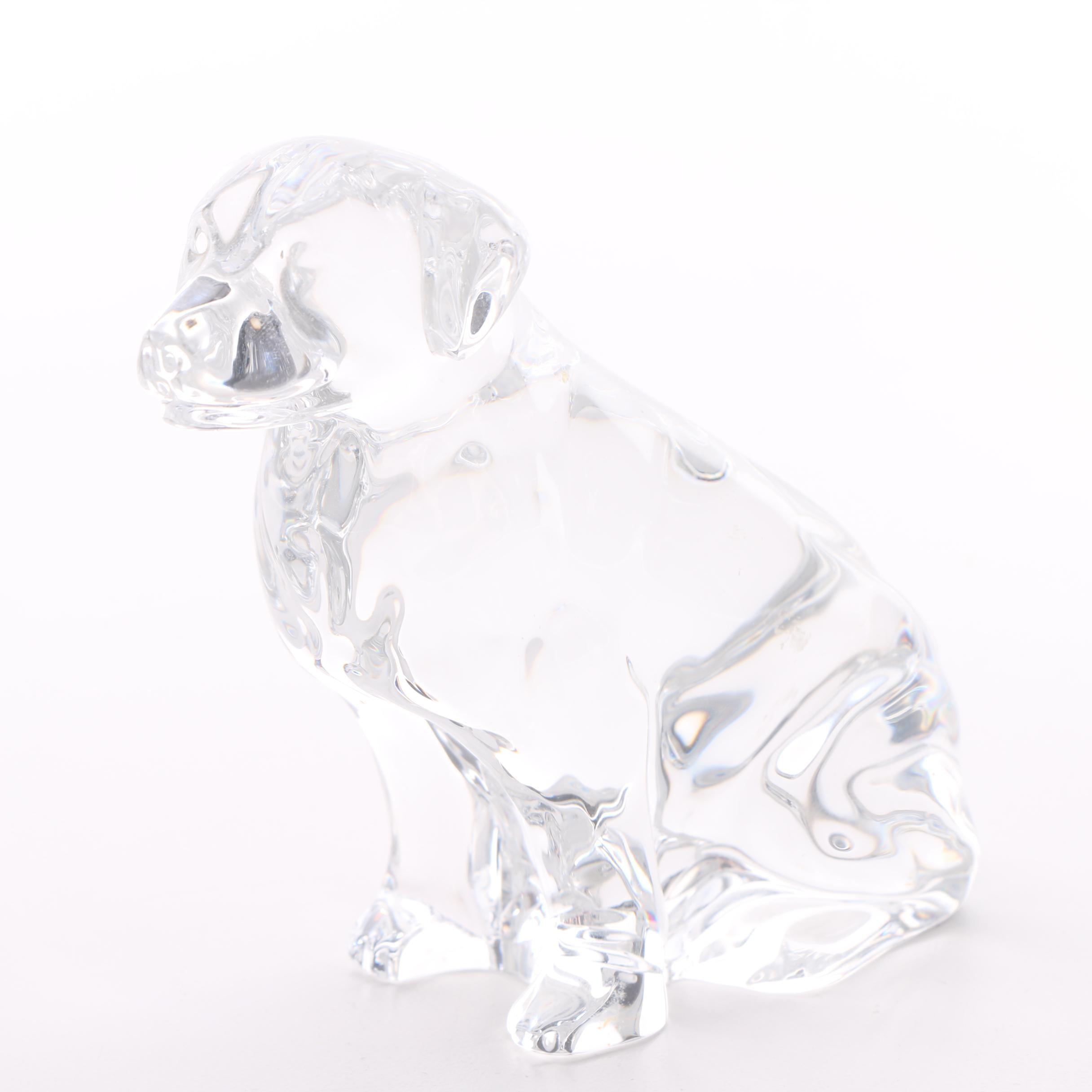 Waterford Crystal Labrador Retriever Figurine