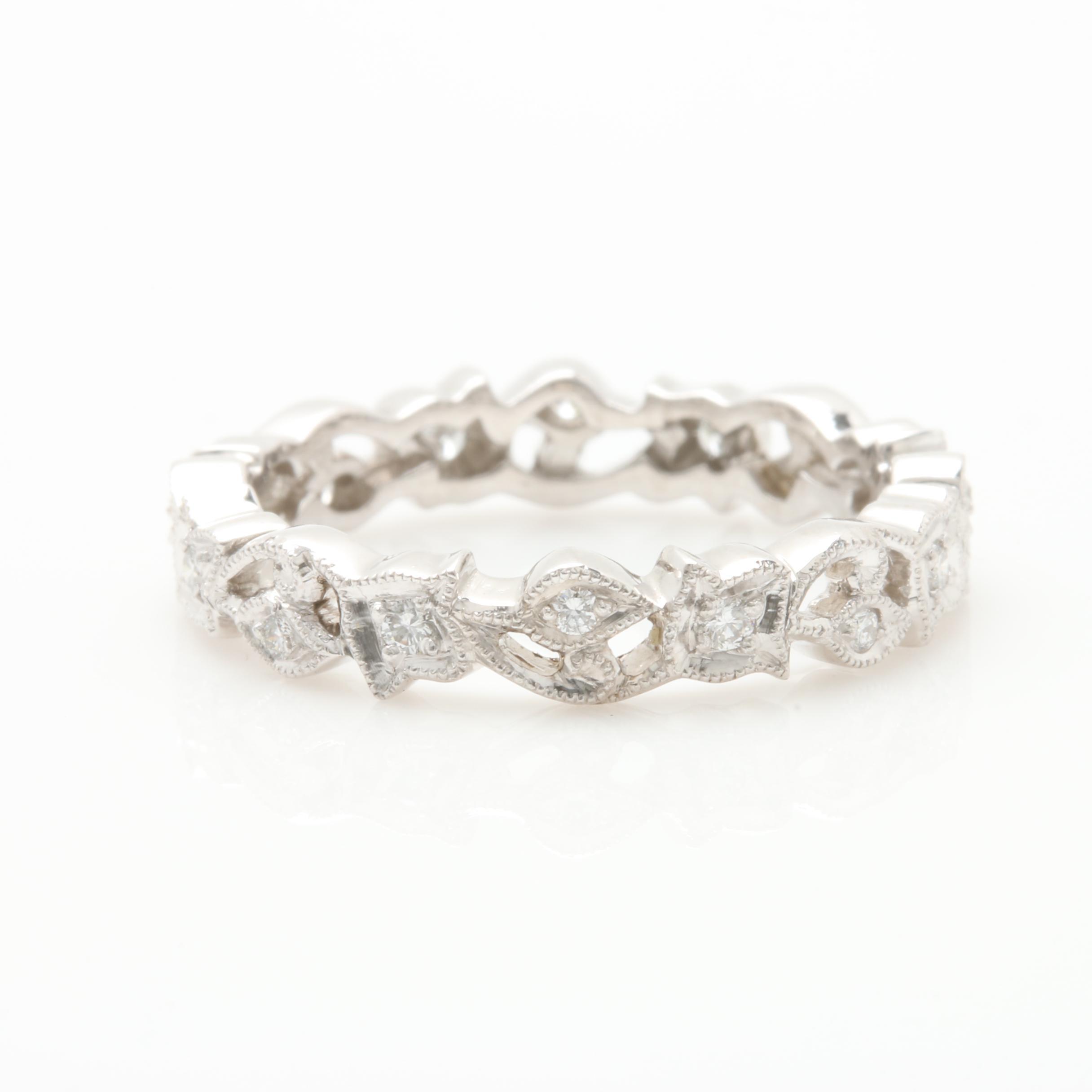 Platinum Diamond Foliate Band