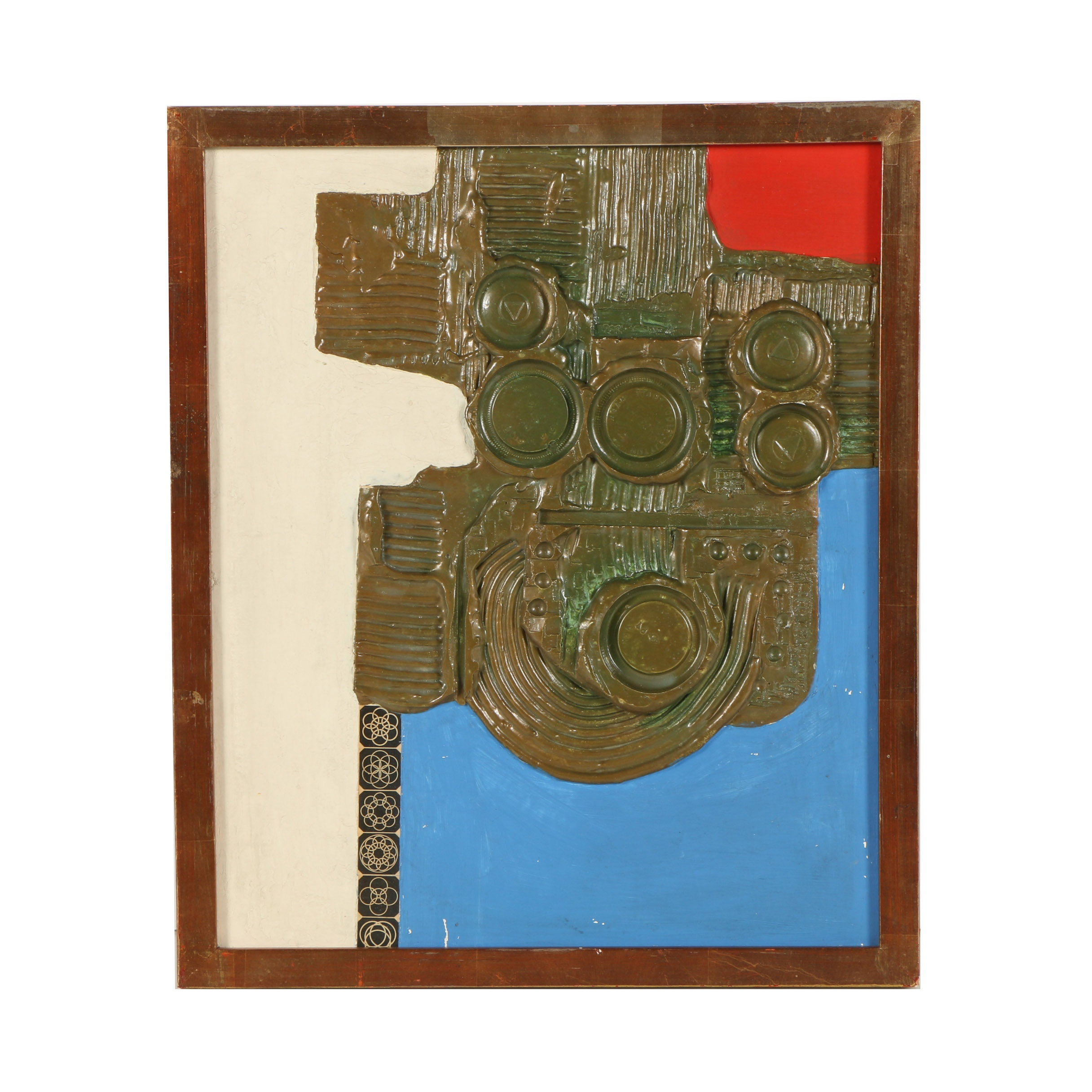 "Taisuke Hamada Mixed Media Painting ""Crest Composition"""