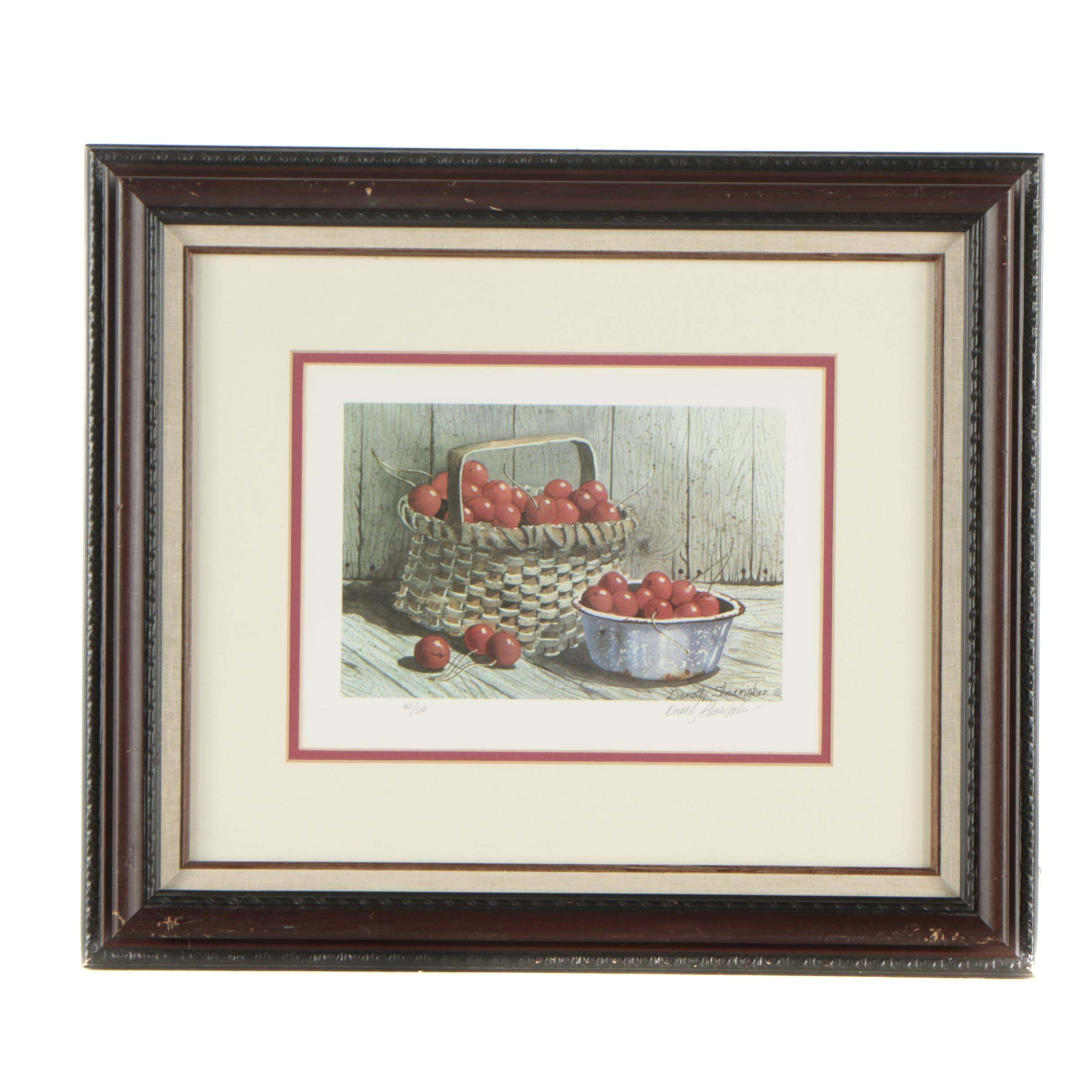 Dorothy Shoemaker Limited Edition Offset Lithograph of Cherries